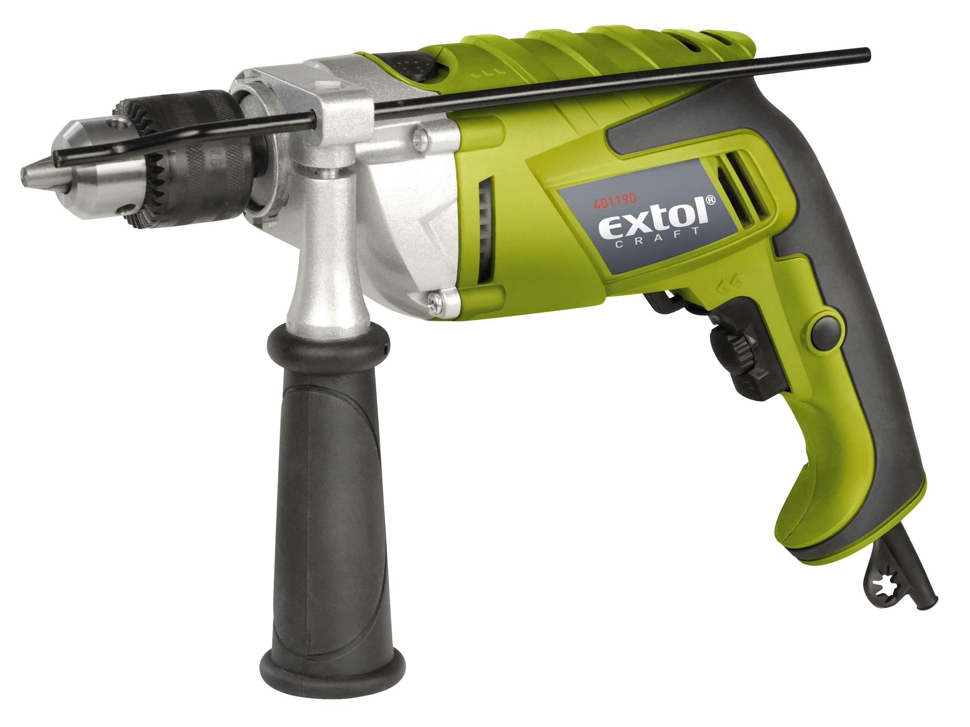 Vrtačka s příklepem 1100W, EXTOL Craft 401190