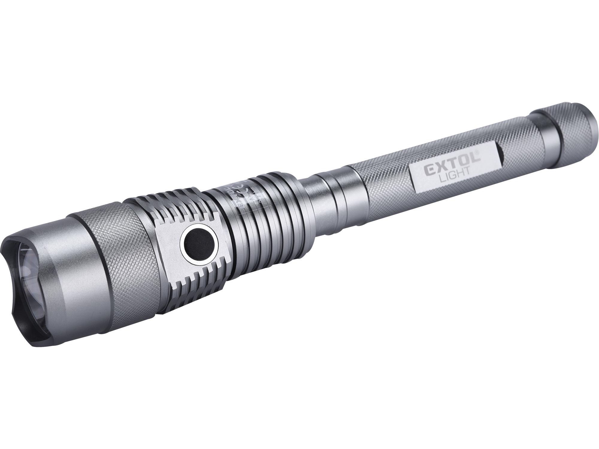 svítilna 800lm CREE, USB nabíjení s powerbankou, CREE T6 LED