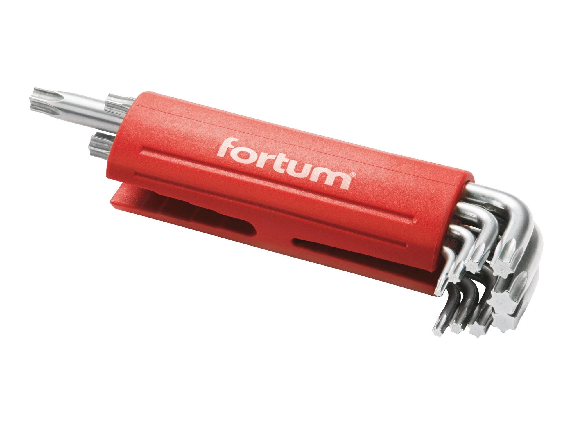 L-klíče TORX, sada 9ks, 10-50