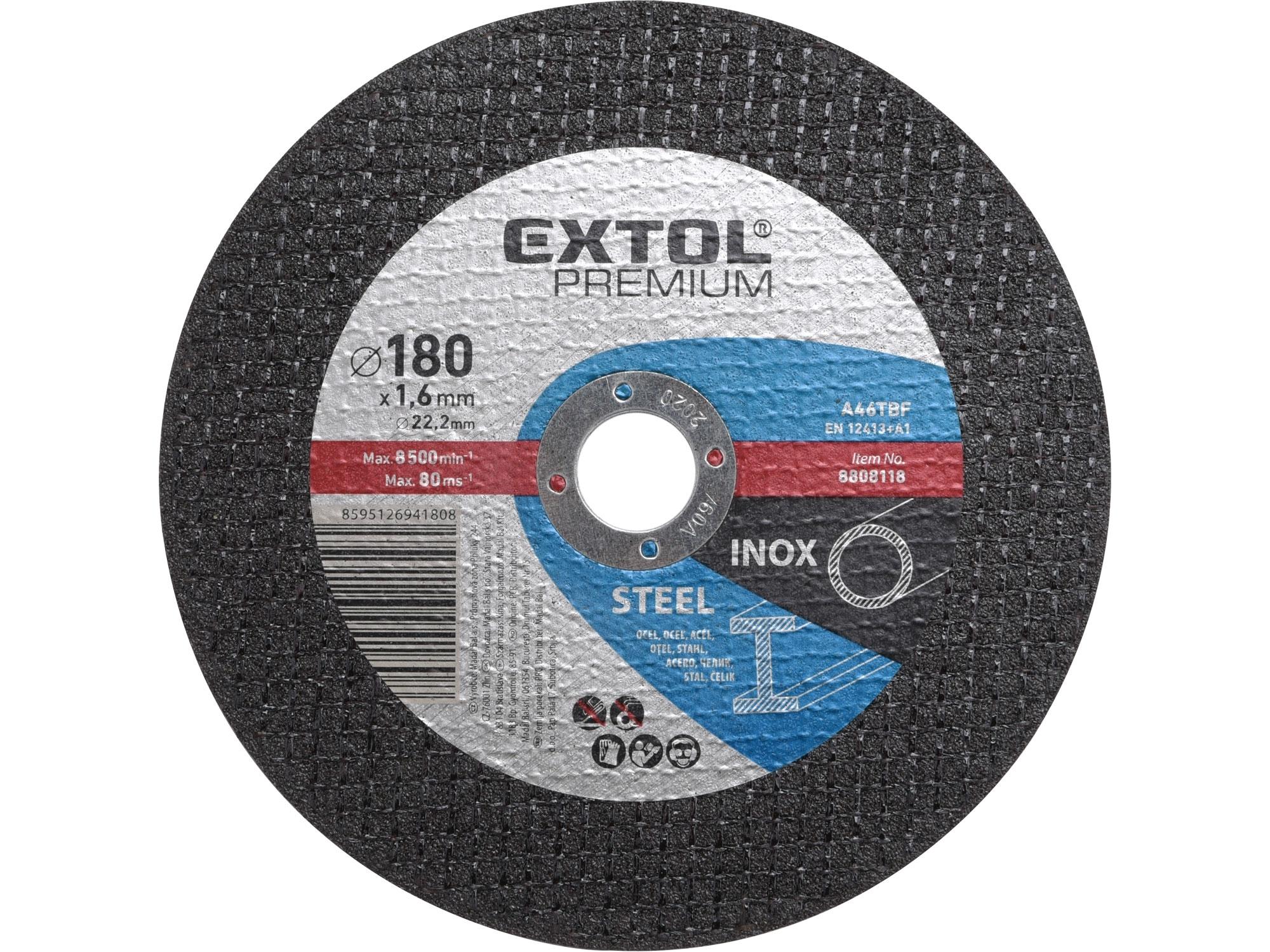 kotouč řezný na ocel/nerez, 180x1,6x22,2mm