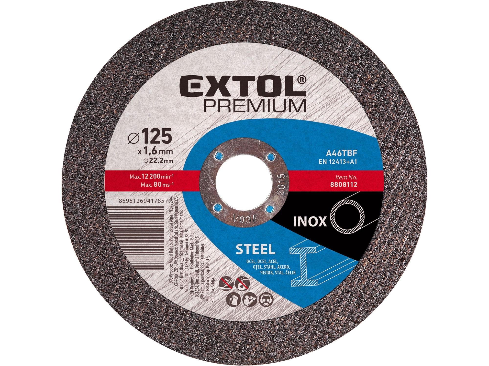 kotouč řezný na ocel/nerez, 125x2,5x22,2mm