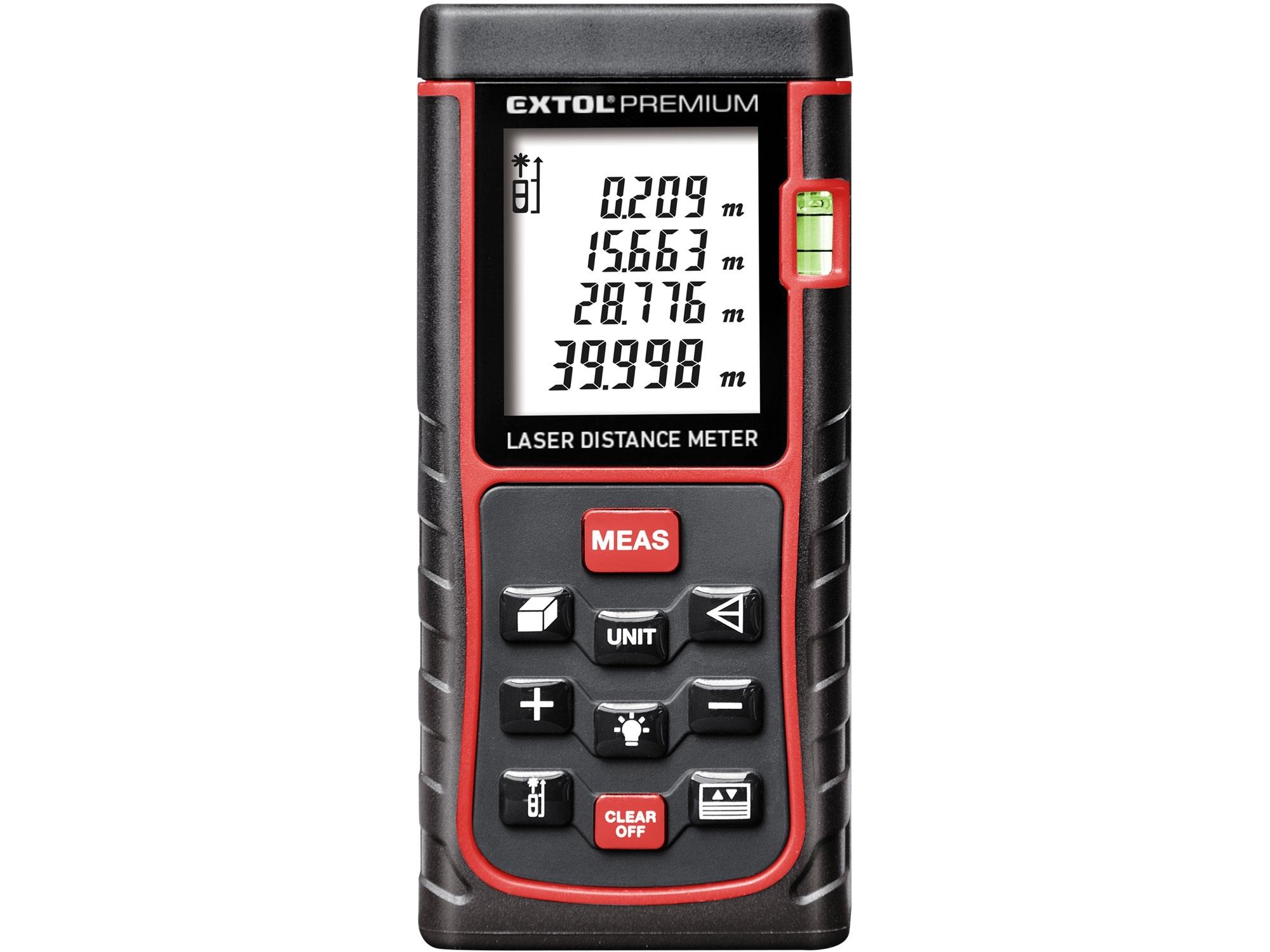 Metr laserový digitální, 0,05-40m EXTOL Premium 8820042