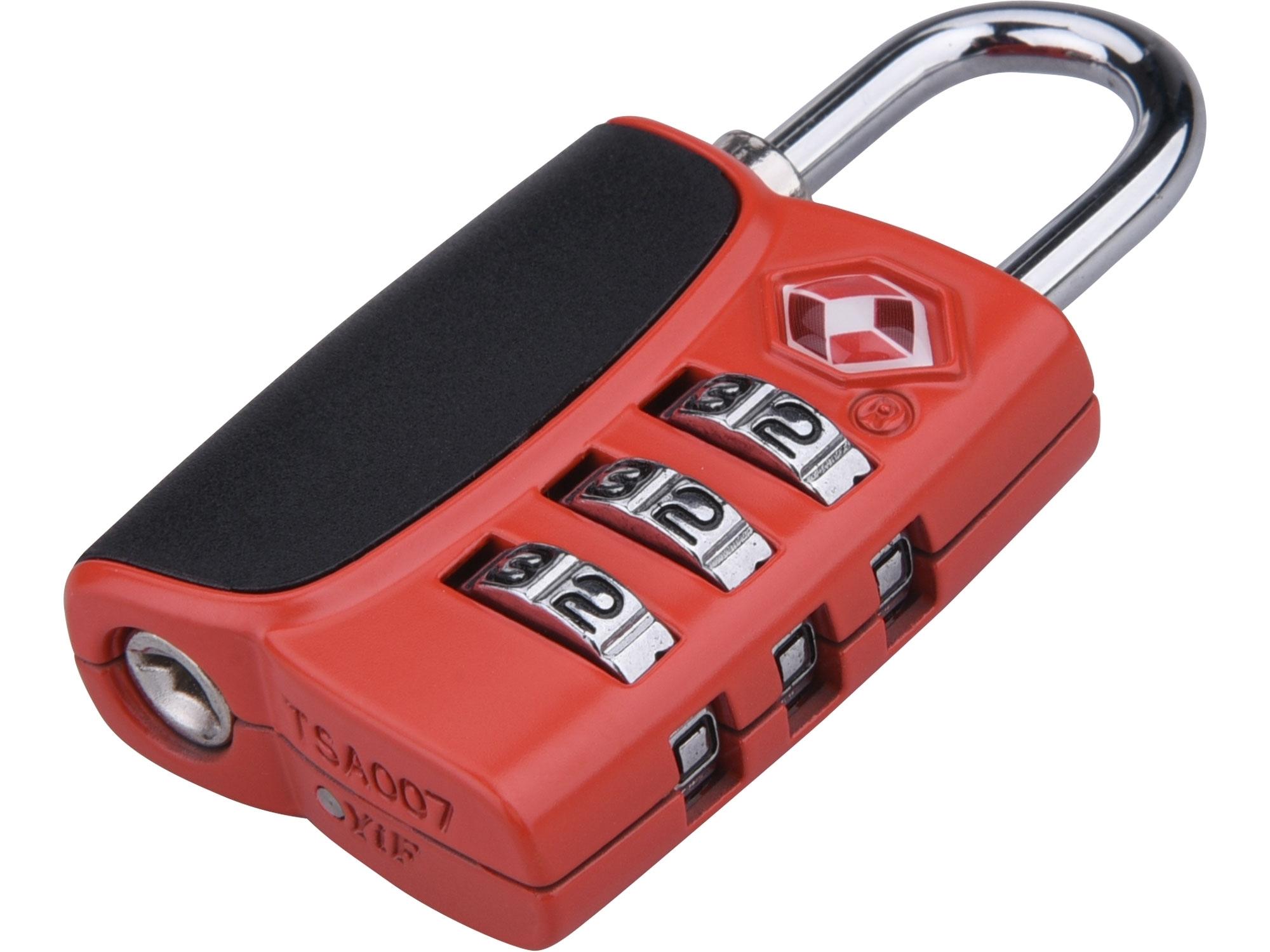 zámek kombinační TSA s trojmístným kódem, 61x32x tl.14mm