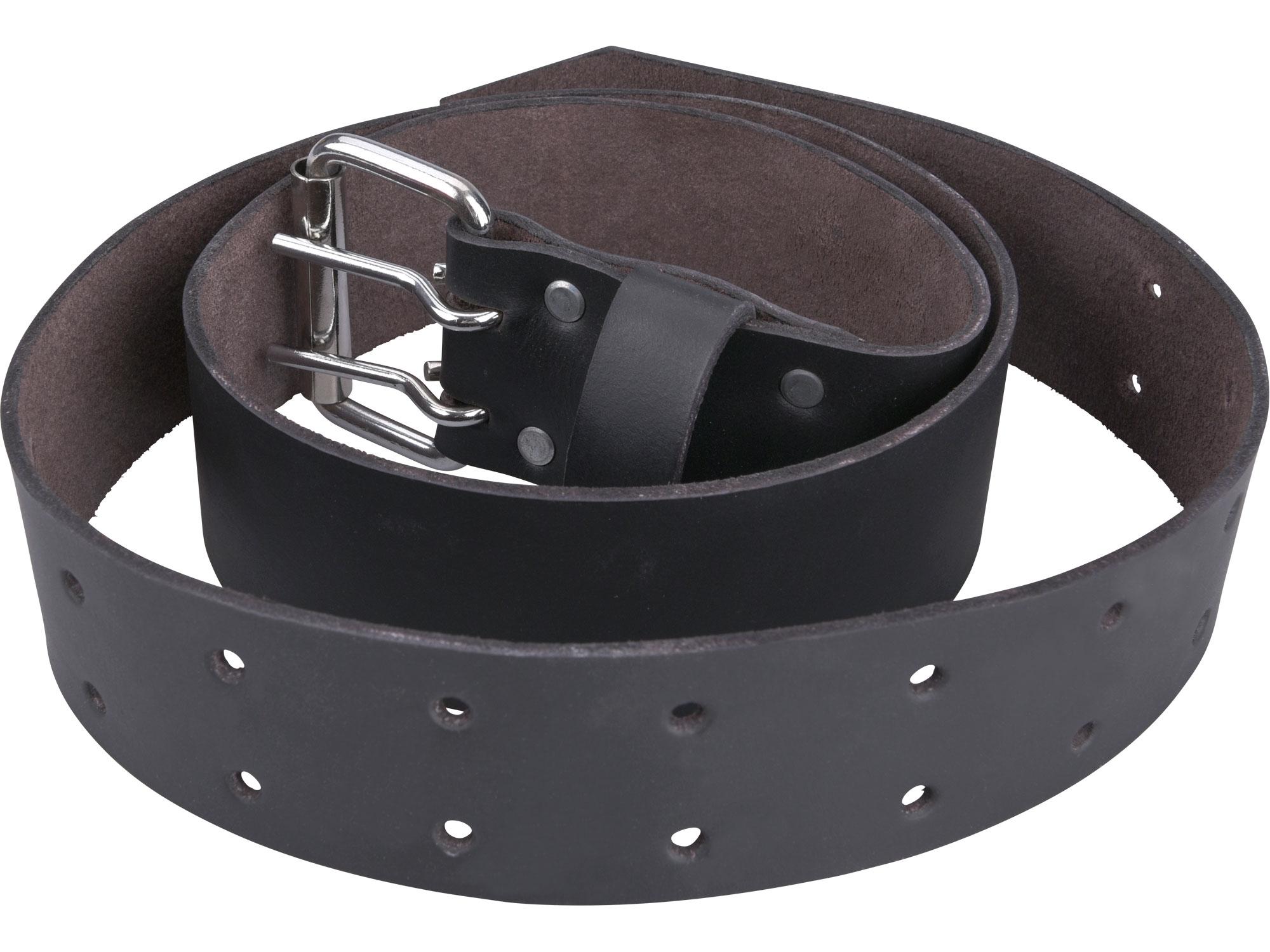 opasek kožený černý, š.4,5cm x d.122cm, kovová přezka