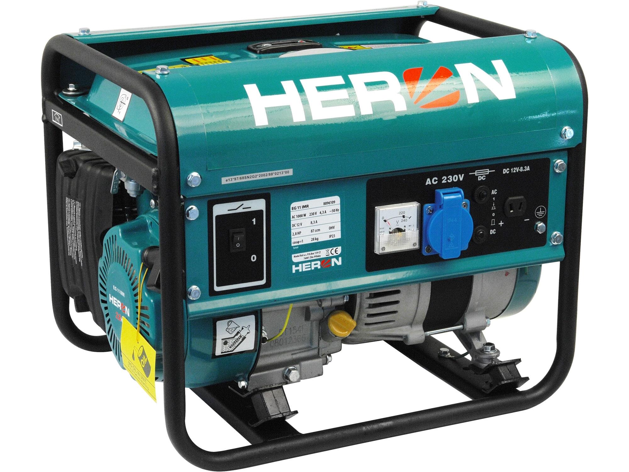 HERON elektrocentrála benzínová 2,8HP/1,1kW