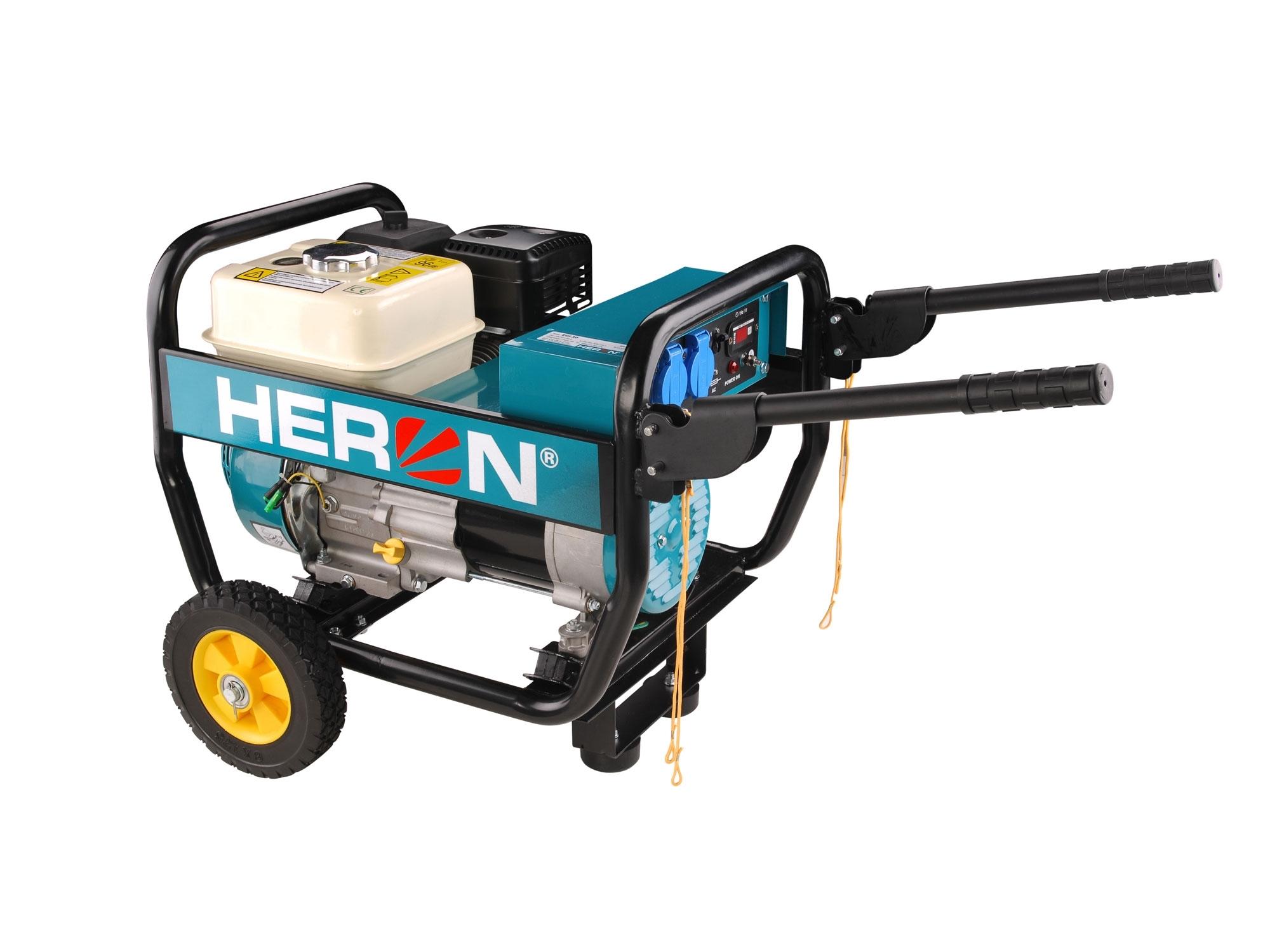 HERON elektrocentrála benzínová 6,5HP/2,8kW, industriální