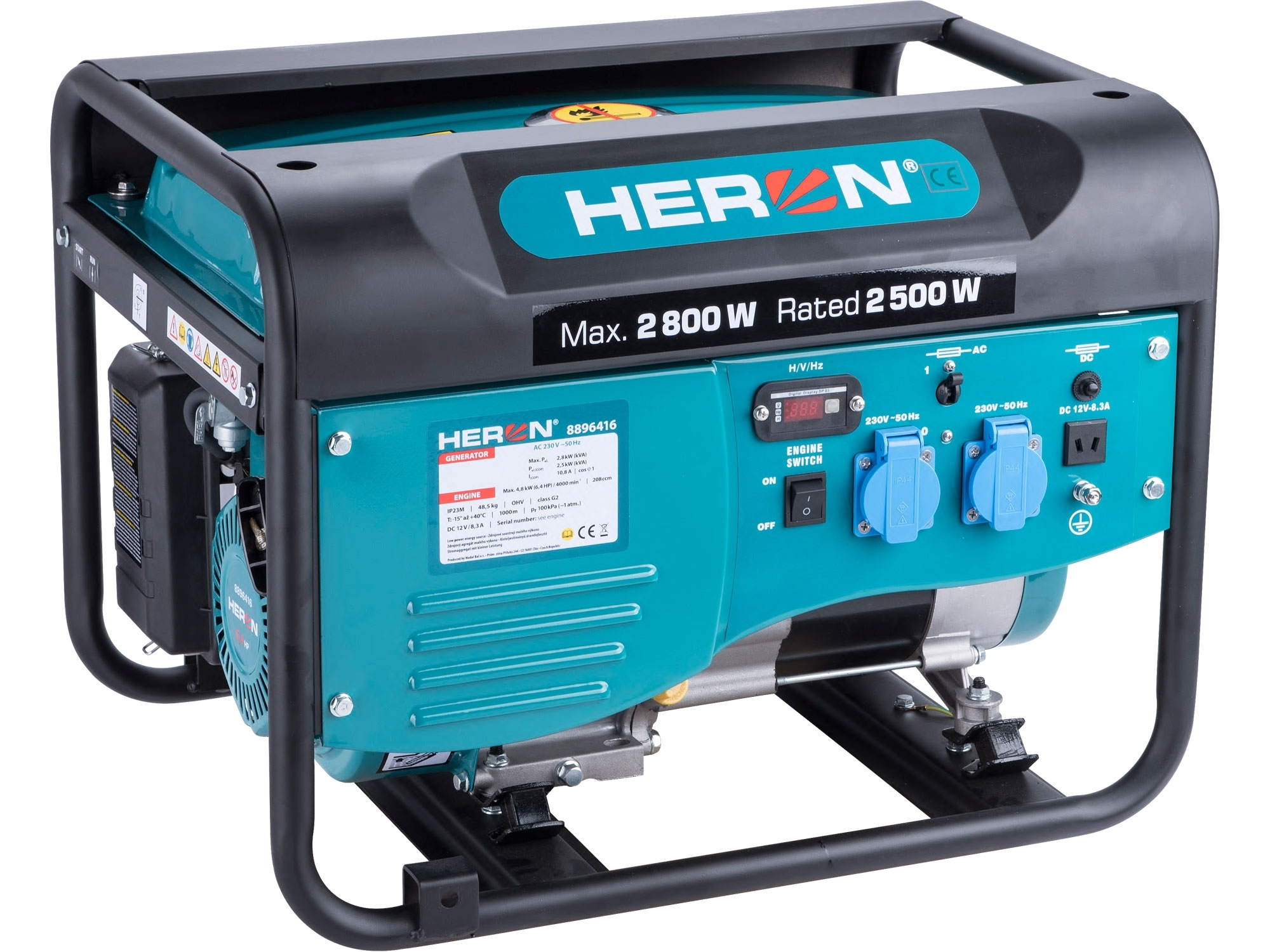 HERON elektrocentrála benzínová 2,8kW/6,5HP