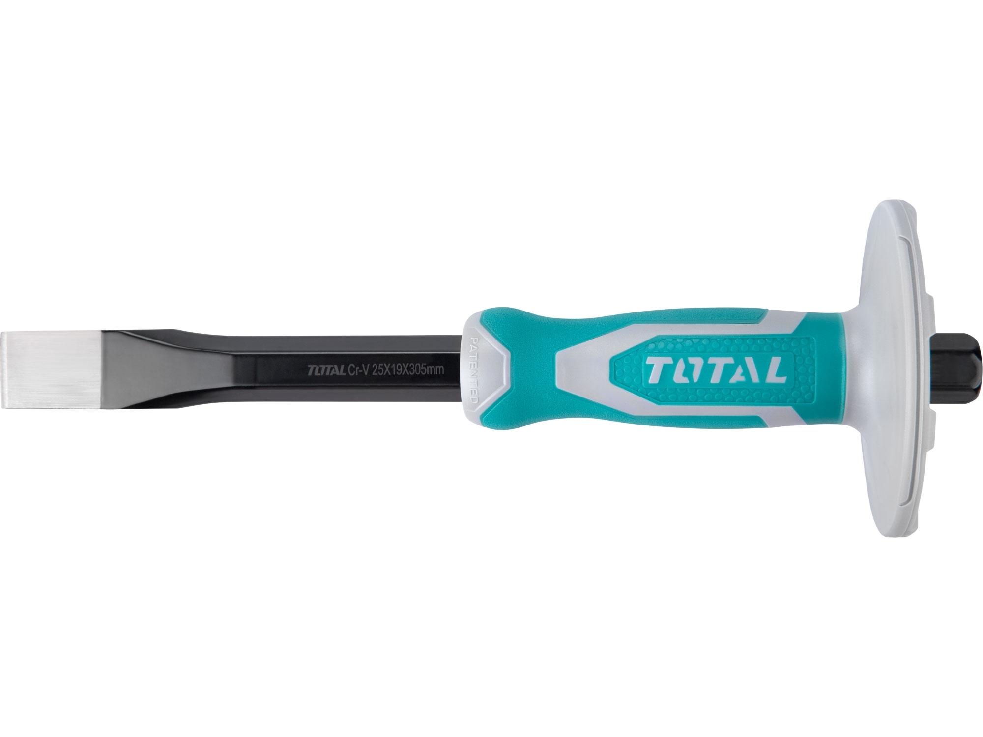 TOTAL THT4211216 sekáč plochý s plastovým chráničem, industrial, šířka ostří 25mm, délka 305mm