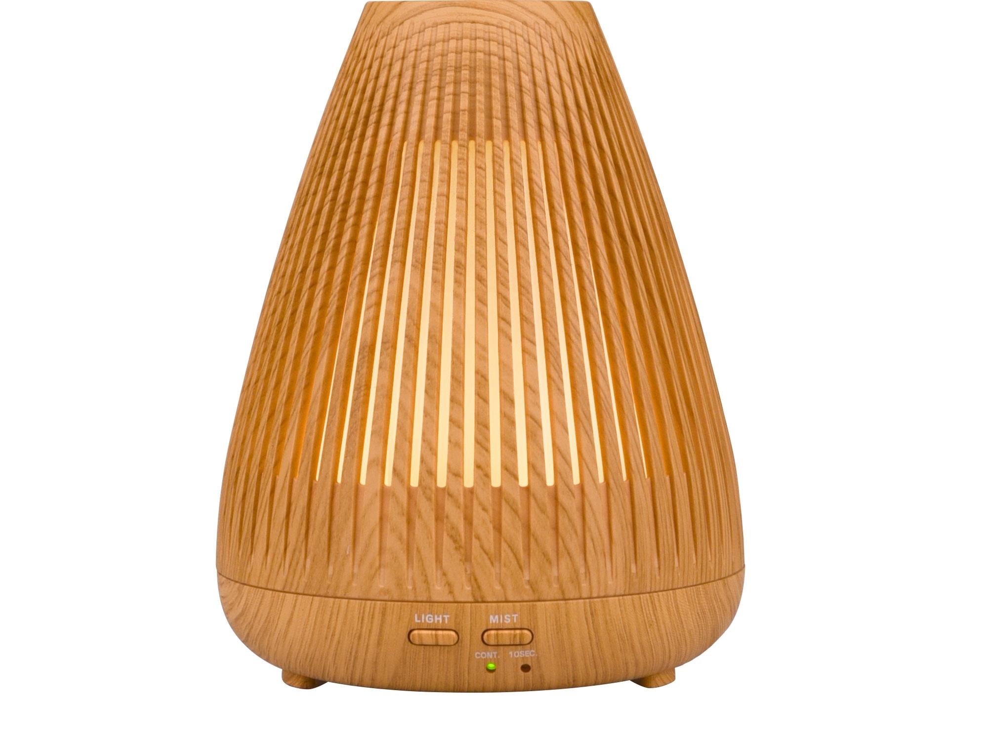 aroma difuzér BEAM - PAPRSEK, osvěžovač a zvlhčovač vzduchu, imitace světlého dřeva