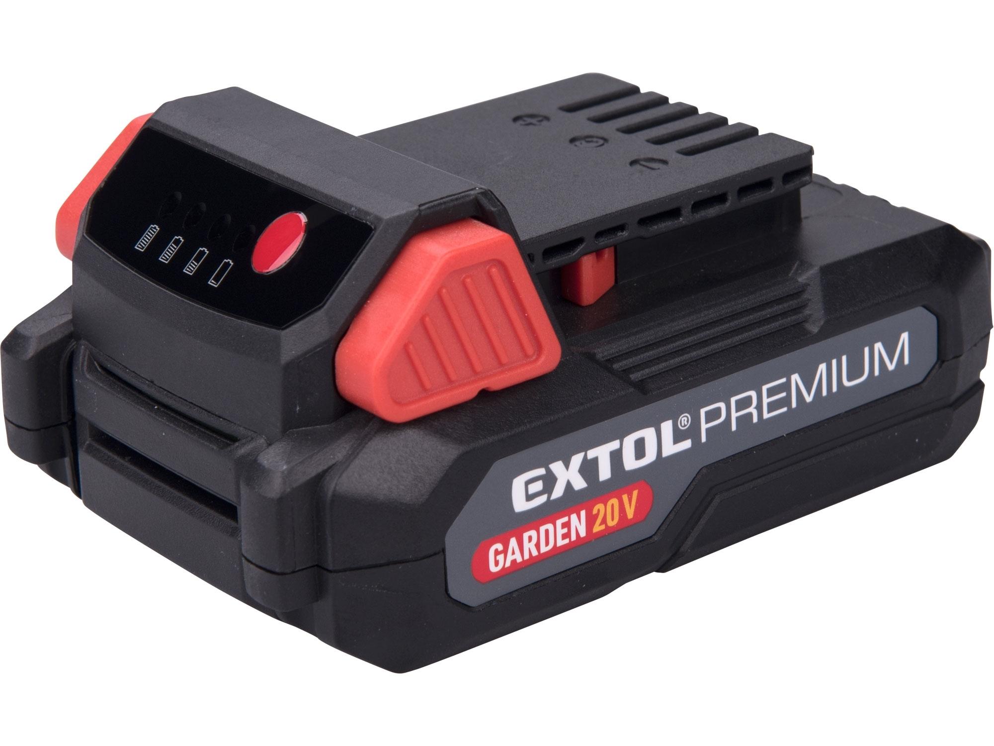baterie akumulátorová GARDEN20V, 20V Li-ion, 2000mAh