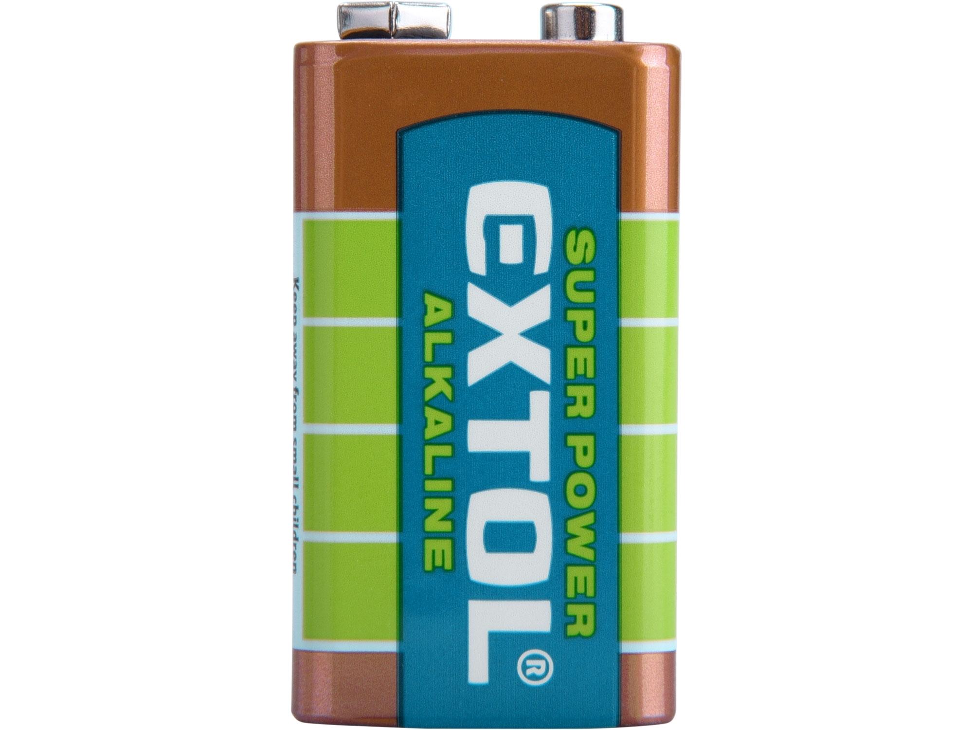 baterie alkalické, 1ks, 9V (6LR61), EXTOL ENERGY 42016