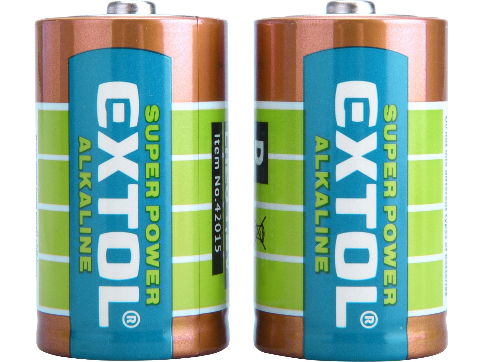 baterie alkalické, 2ks, 1,5V D (LR20) 42015