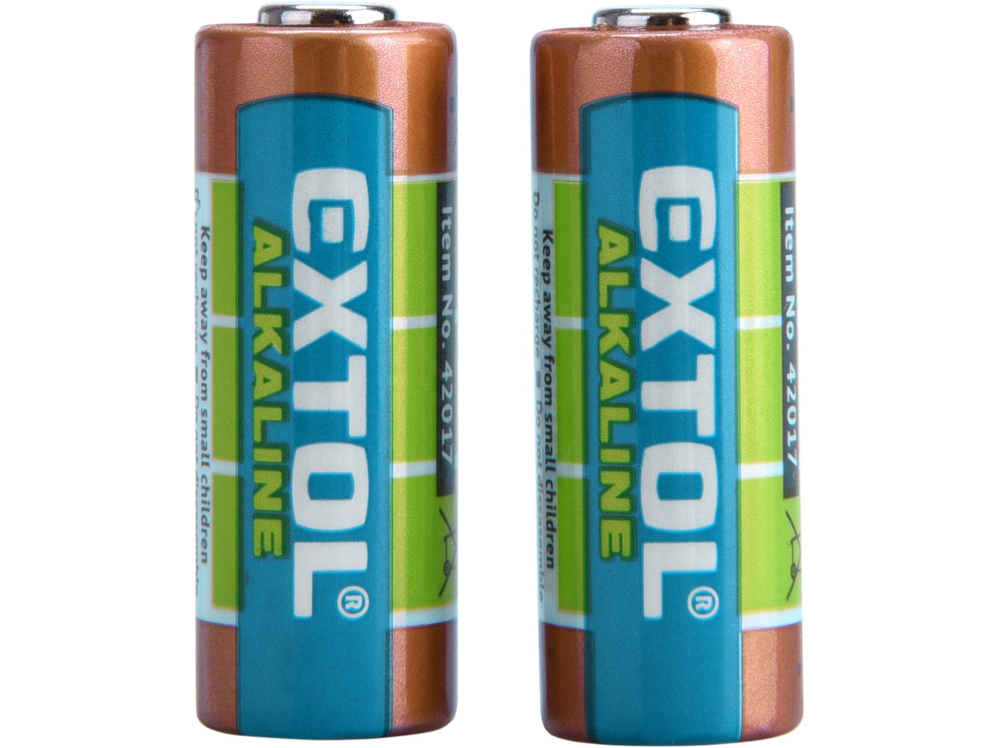 baterie alkalické, 2ks, 12V (23A), EXTOL ENERGY 42017