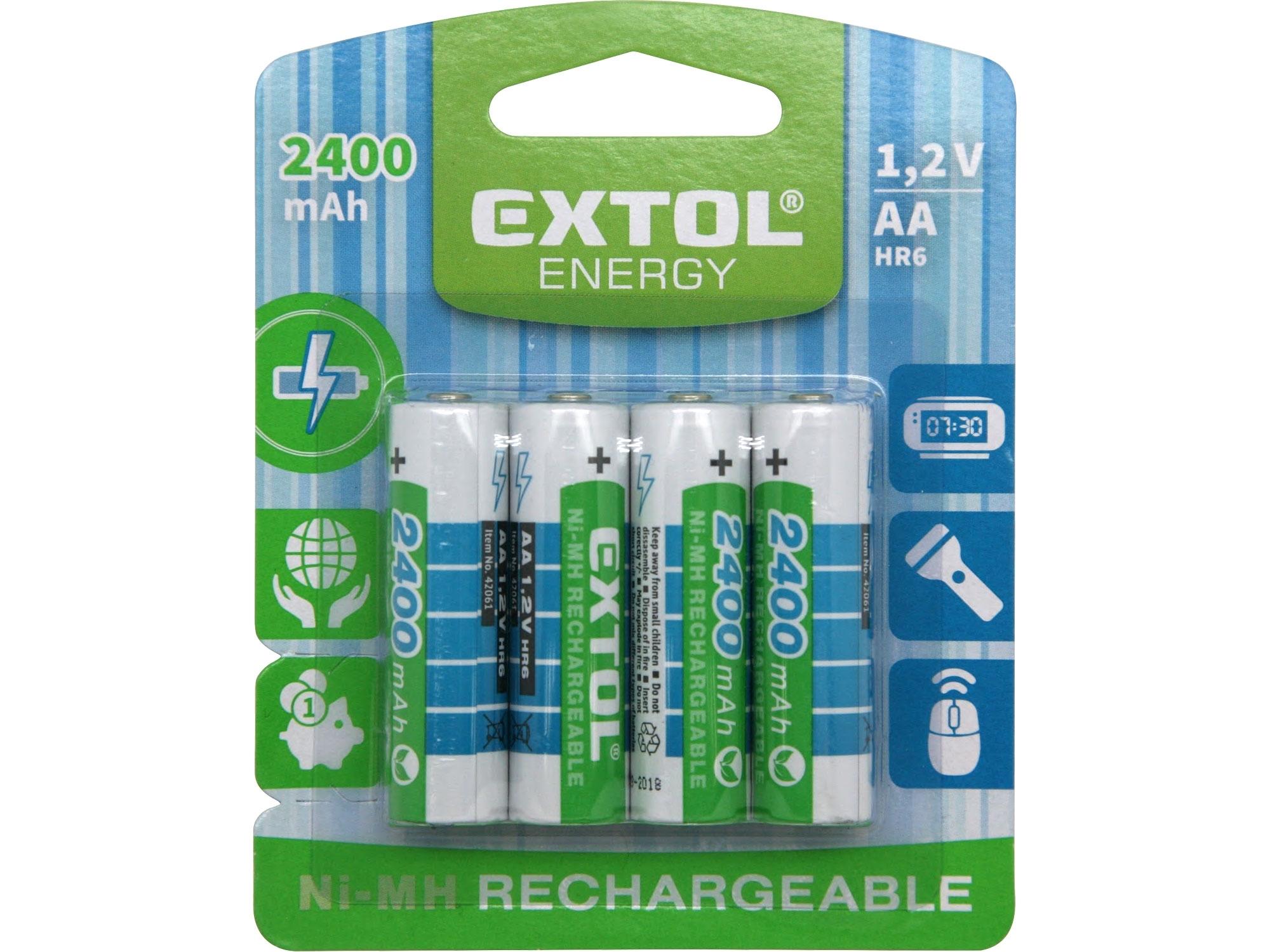 Baterie AA HR6 nabíjecí 1.2V 4ks