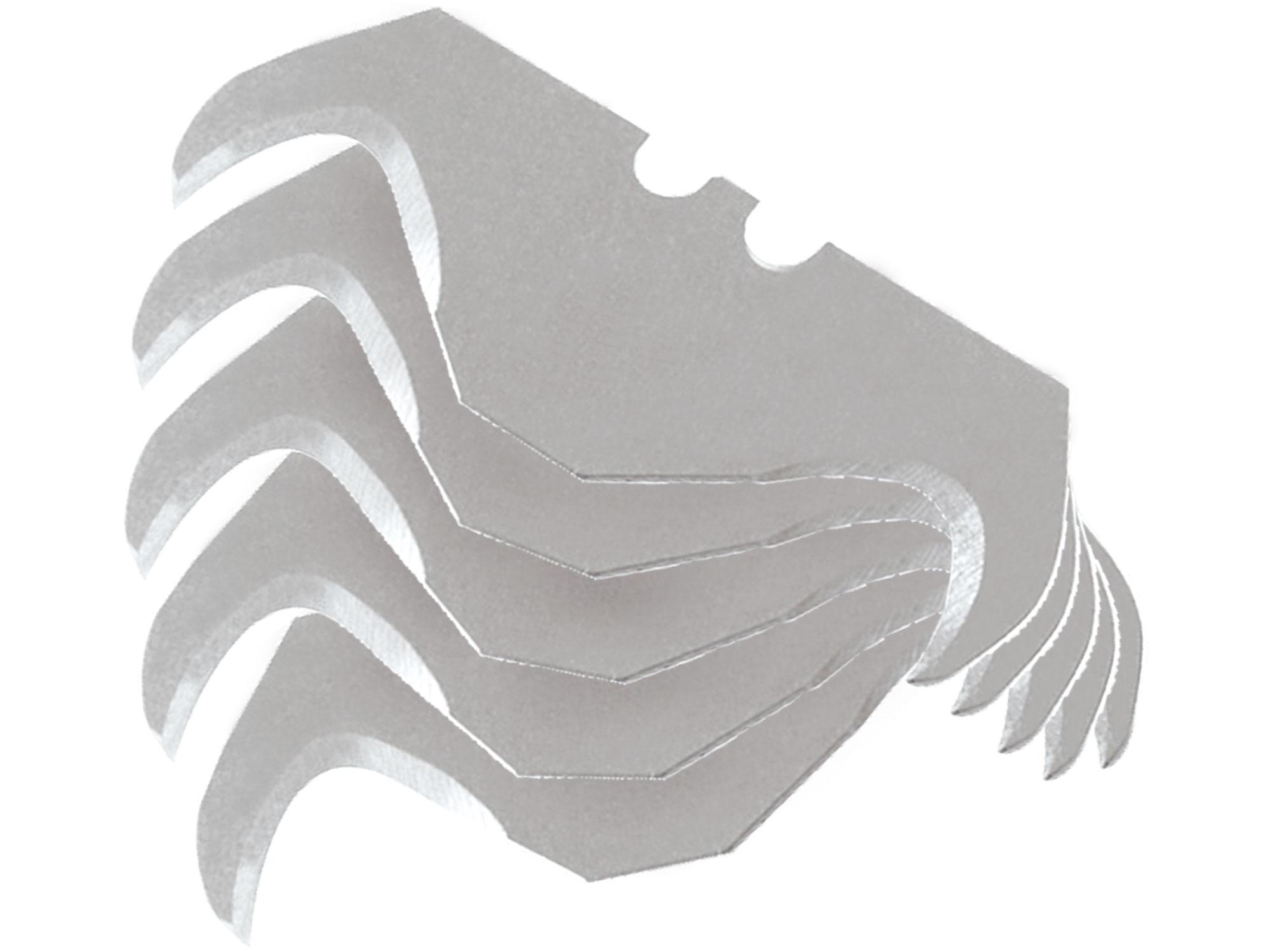 břity do nože - háček, 5ks, pro nože 745107, 8855000, 8855001, 8855002, 8855020, EXTOL CRAFT 9121