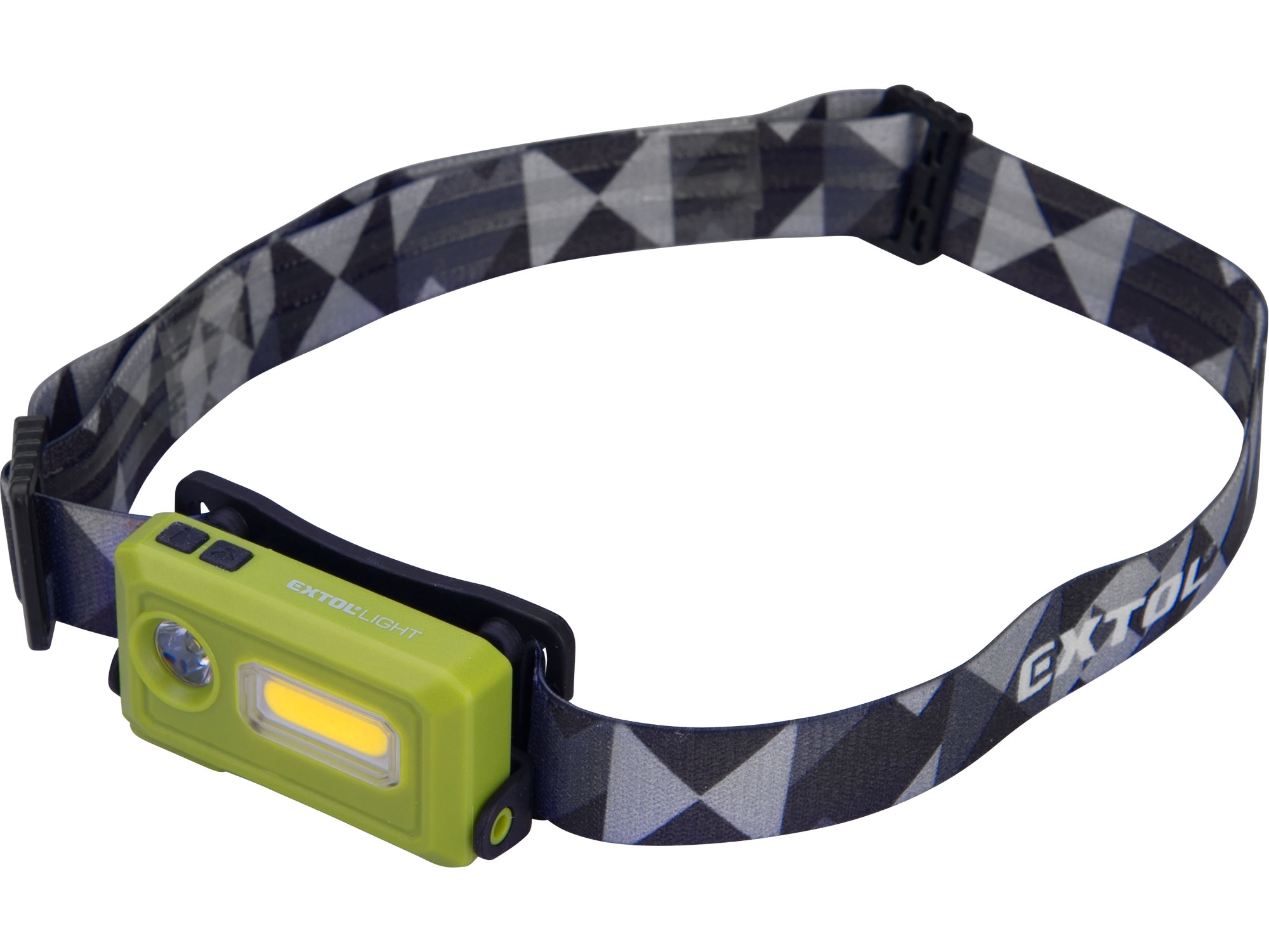čelovka 140lm, USB nabíjení, LED+COB LED