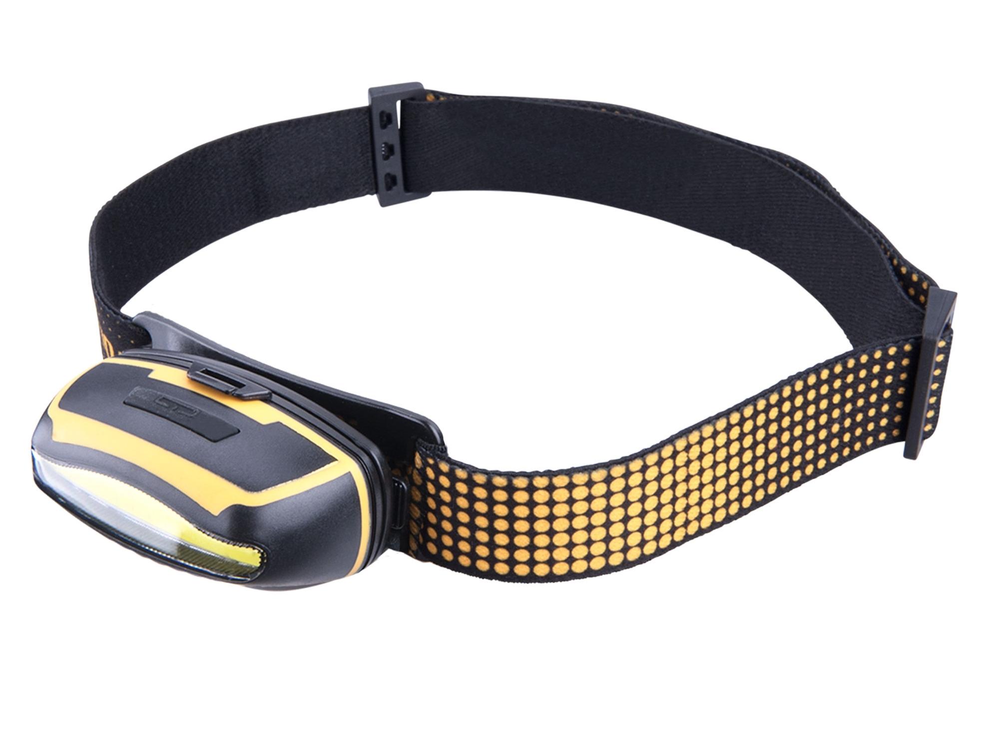 čelovka širokoúhlá 300lm, 5W COB LED