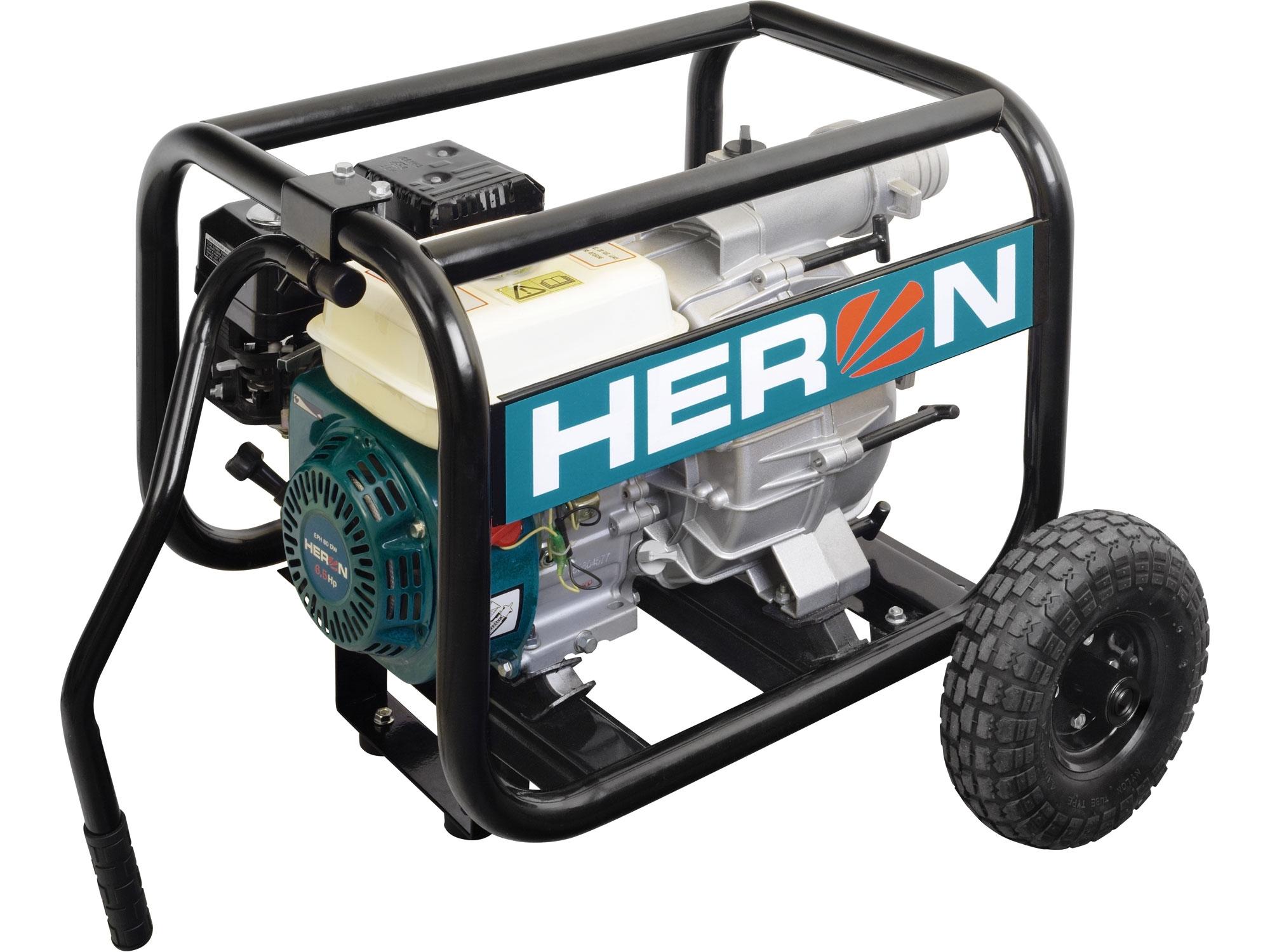 čerpadlo motorové kalové 6,5HP, 1300l/min, HERON, EMPH 80 W 8895105