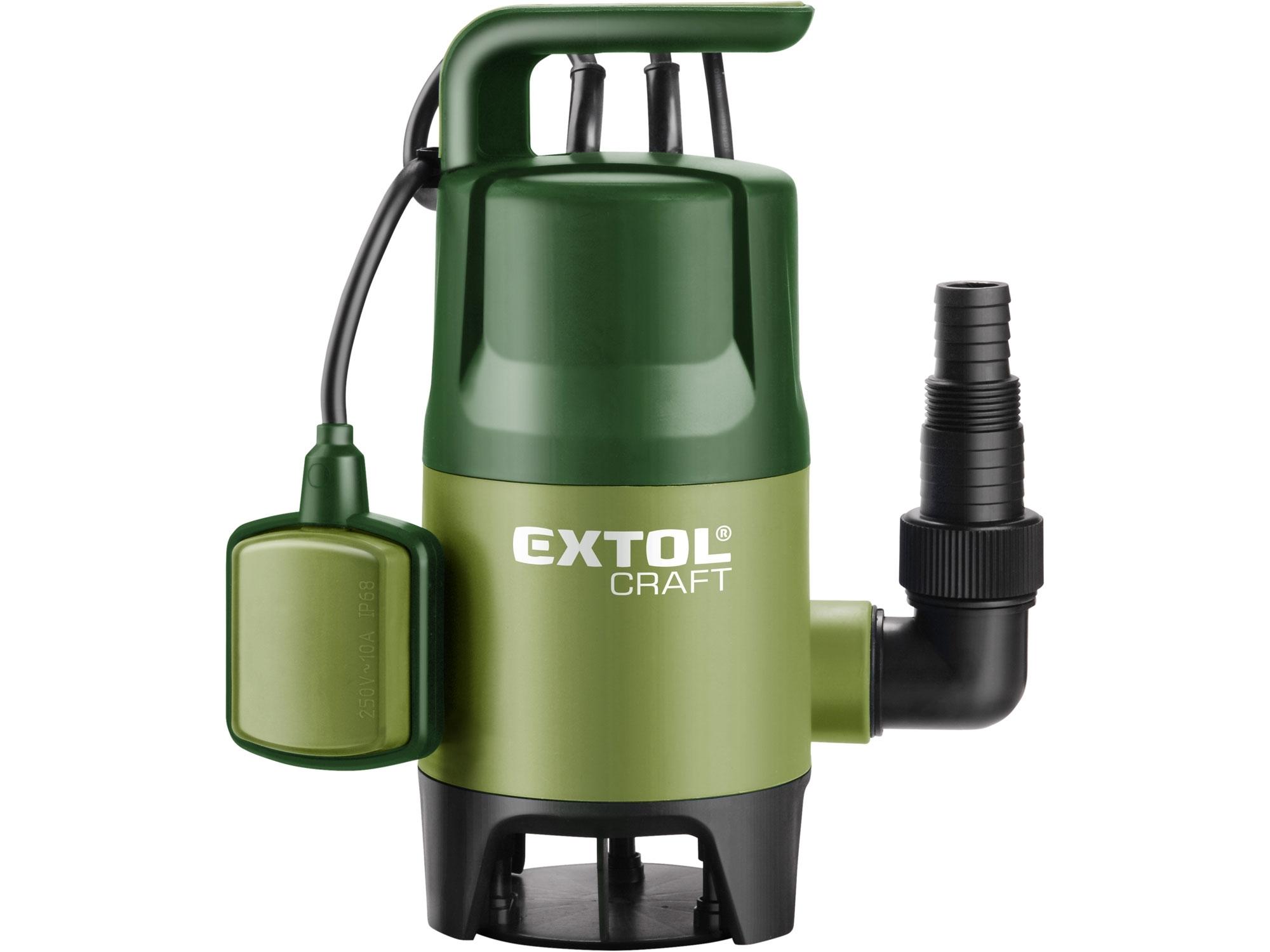 čerpadlo na znečištěnou vodu, 400W, 7500l/hod, EXTOL CRAFT 414122