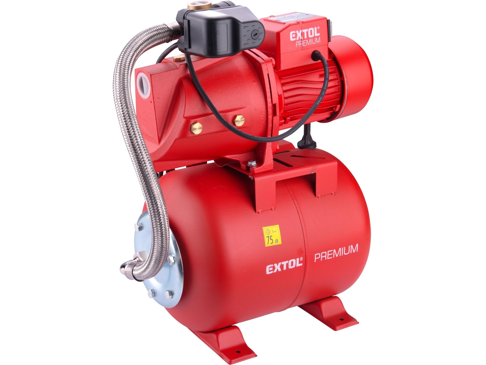 čerpadlo proudové s tlakovou nádobou, 750W, 5270l/hod, EXTOL PREMIUM 8895095