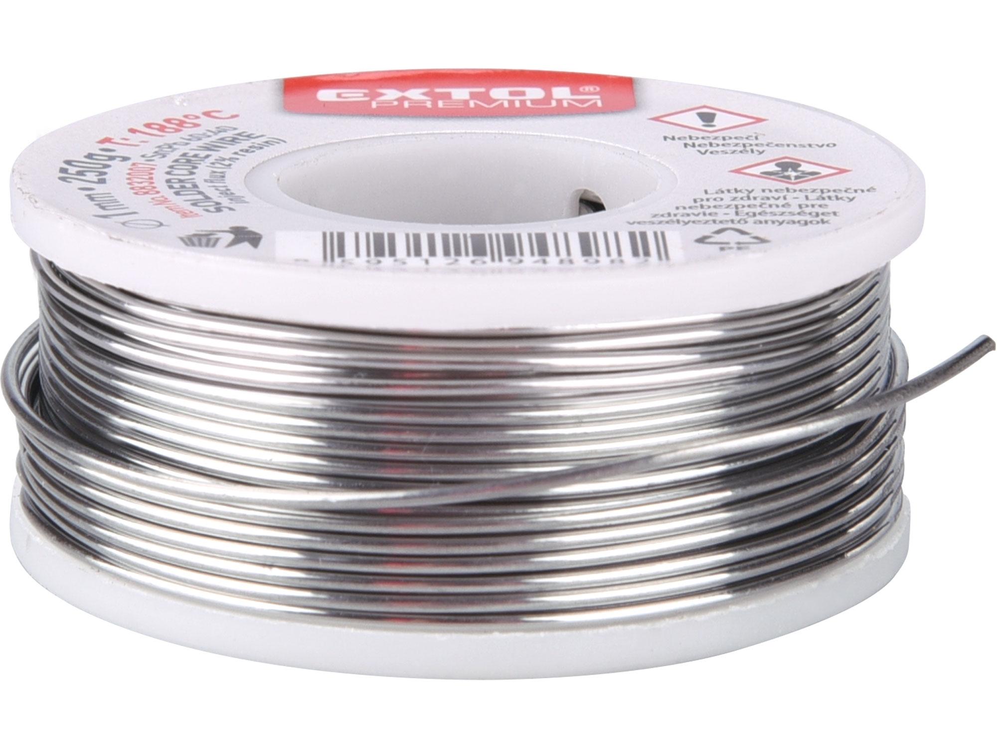 drát pájecí trubičkový Sn60/Pb40, O 1mm, 100g