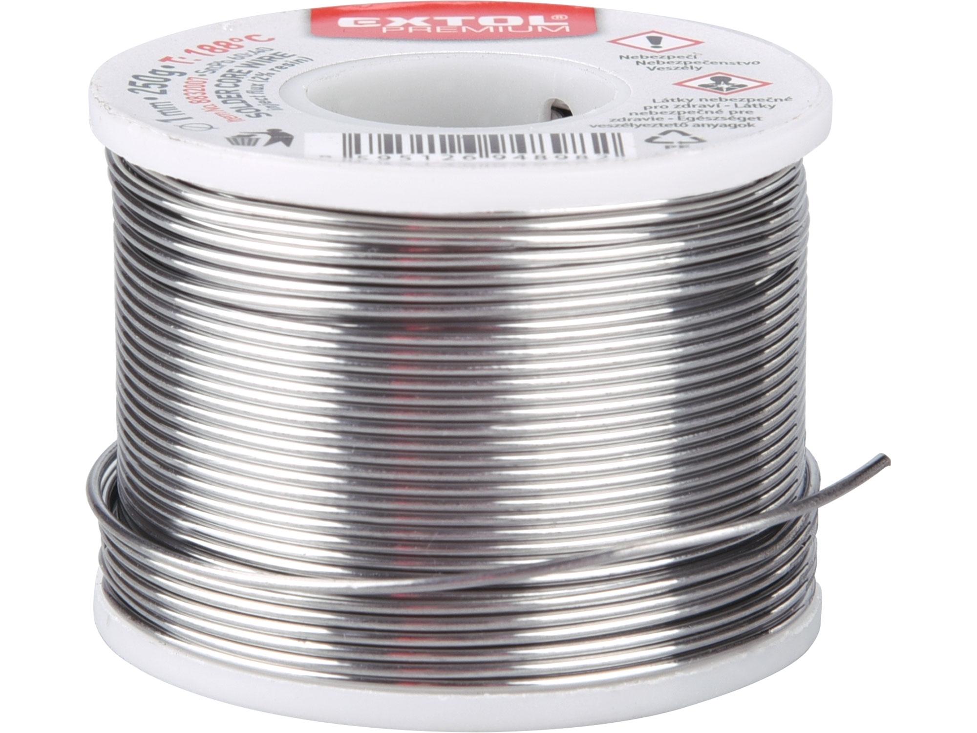 drát pájecí trubičkový Sn60/Pb40, O 1mm, 250g