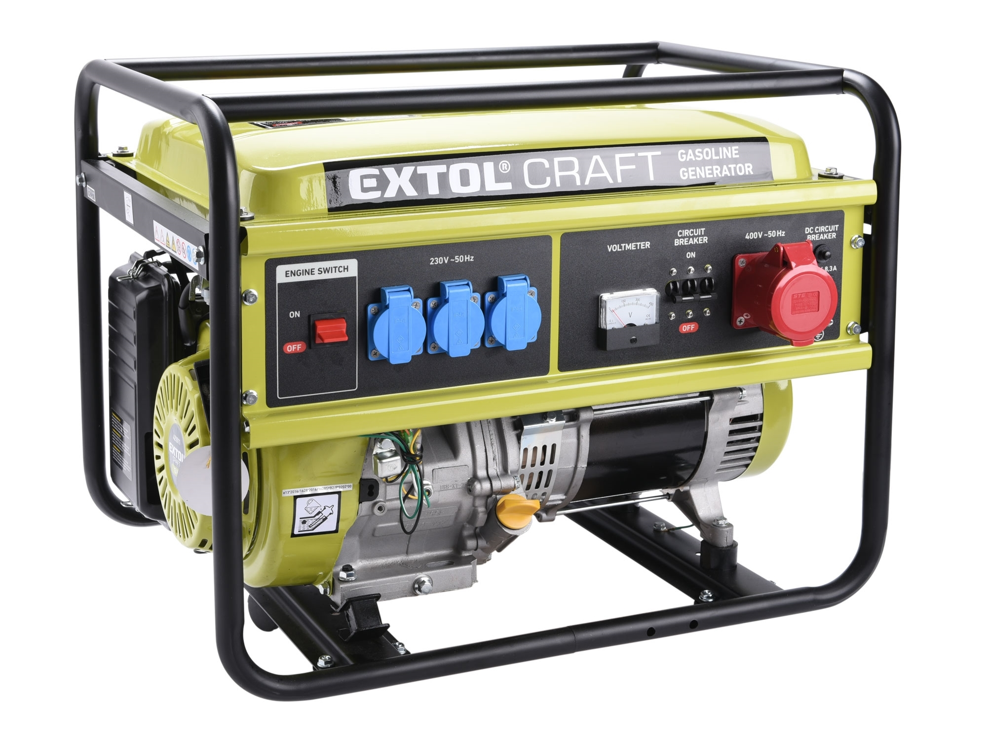 elektrocentrála benzínová, 13HP/5,5kW (400V) 3x1,8kW (230V), EXTOL CRAFT 421011