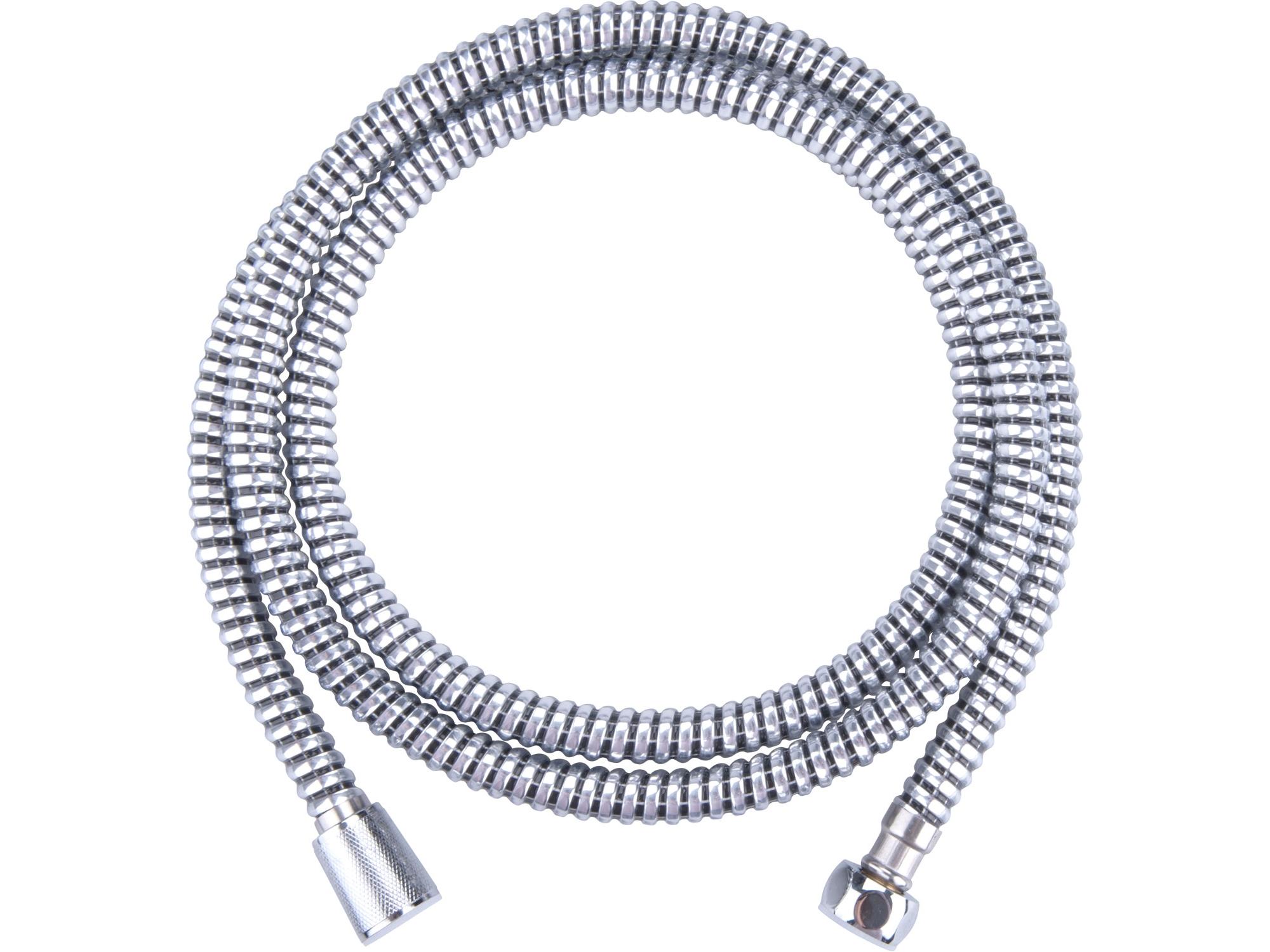 hadice sprchová, černo/stříbrná, 180cm, PVC