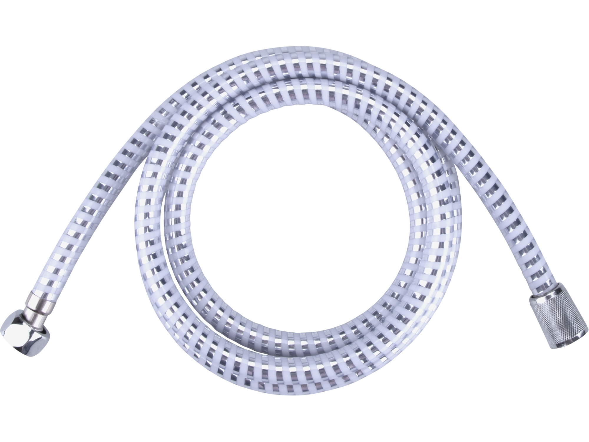 hadice sprchová, stříbrný pruh, 180cm, PVC