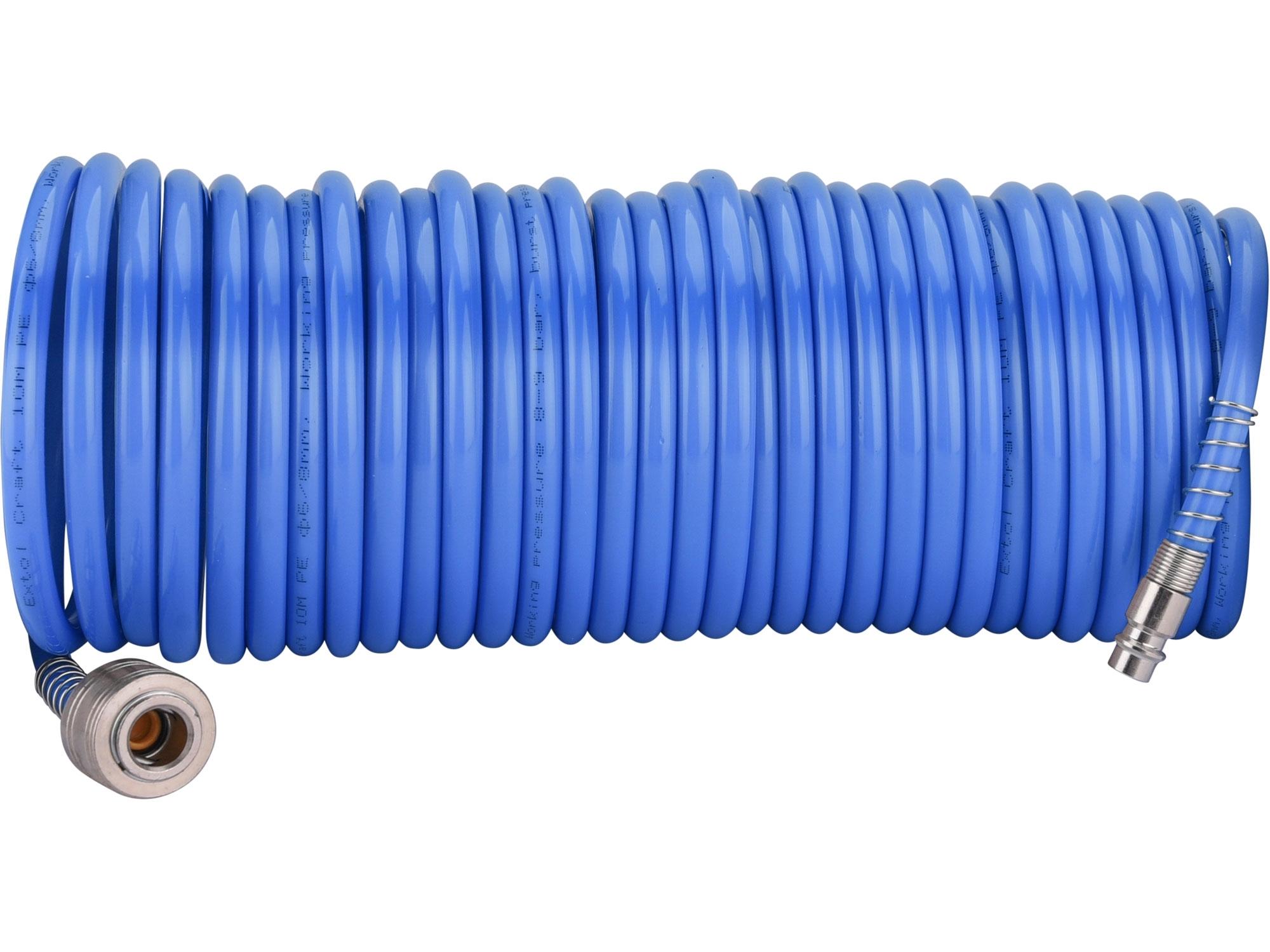 """hadice vzduchová spirálová s rychlospojkami, 1/4"""", pr.vnitřní 6mm, L 10m, EXTOL CRAFT 99325"""