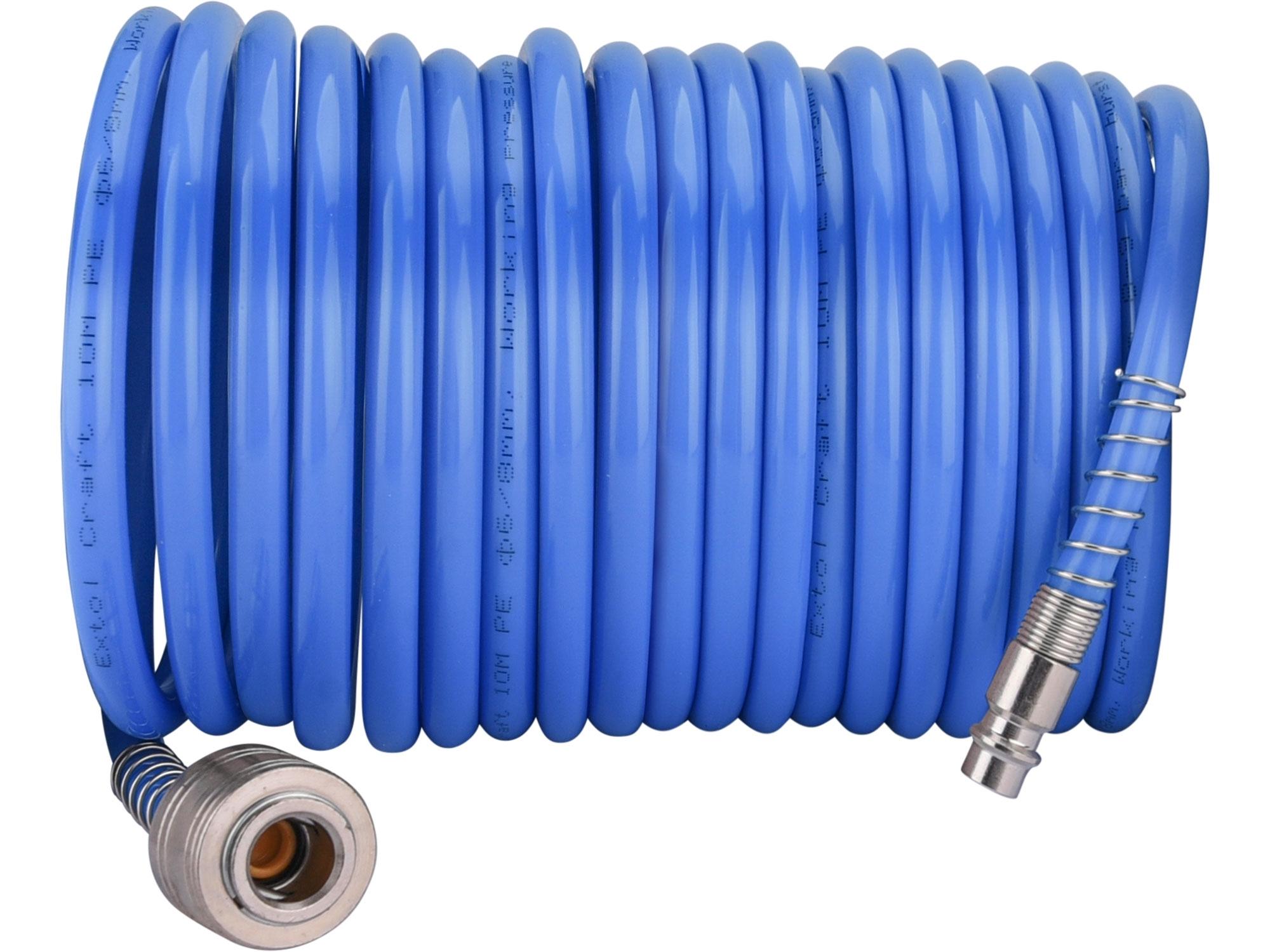 """hadice vzduchová spirálová s rychlospojkami, 1/4"""", pr.vnitřní 6mm, L 5m, EXTOL CRAFT 99322"""