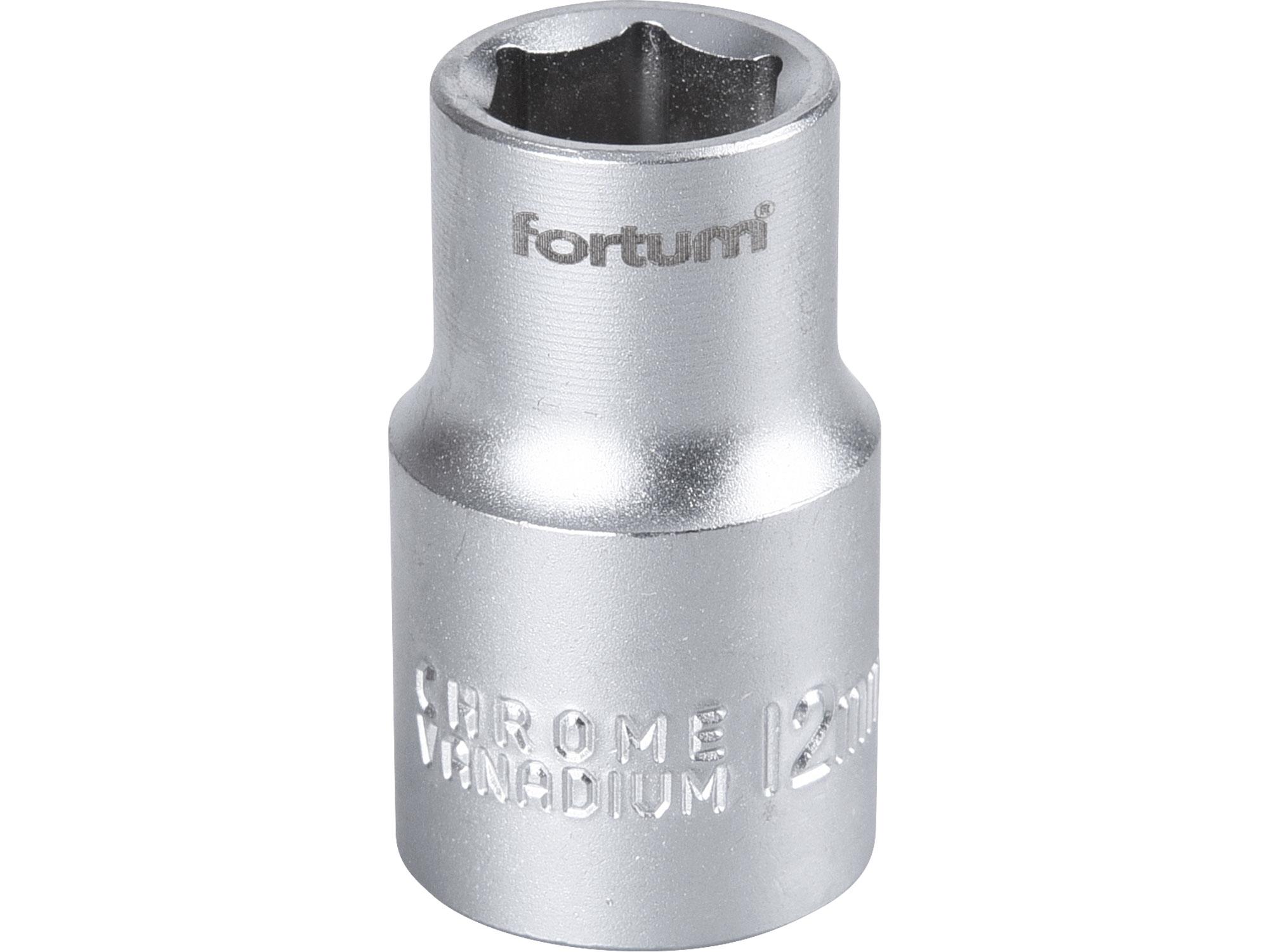"""hlavice nástrčná, 1/2"""", 12mm, L 38mm, FORTUM 4700412"""