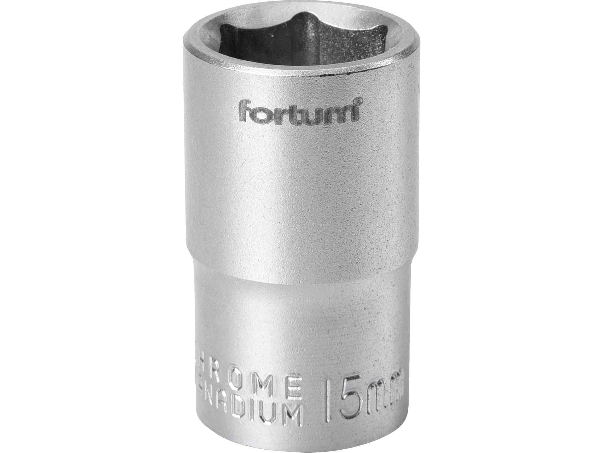 """hlavice nástrčná, 1/2"""", 15mm, L 38mm, FORTUM 4700415"""