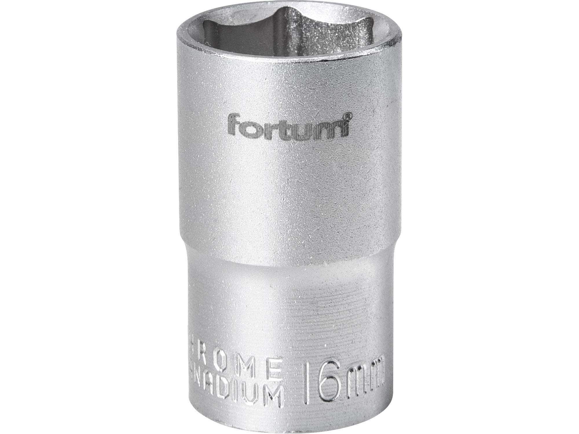 """hlavice nástrčná, 1/2"""", 16mm, L 38mm, FORTUM 4700416"""