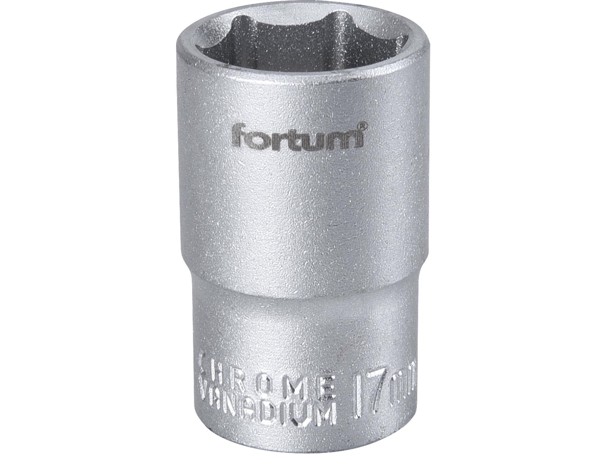 """hlavice nástrčná, 1/2"""", 17mm, L 38mm, FORTUM 4700417"""