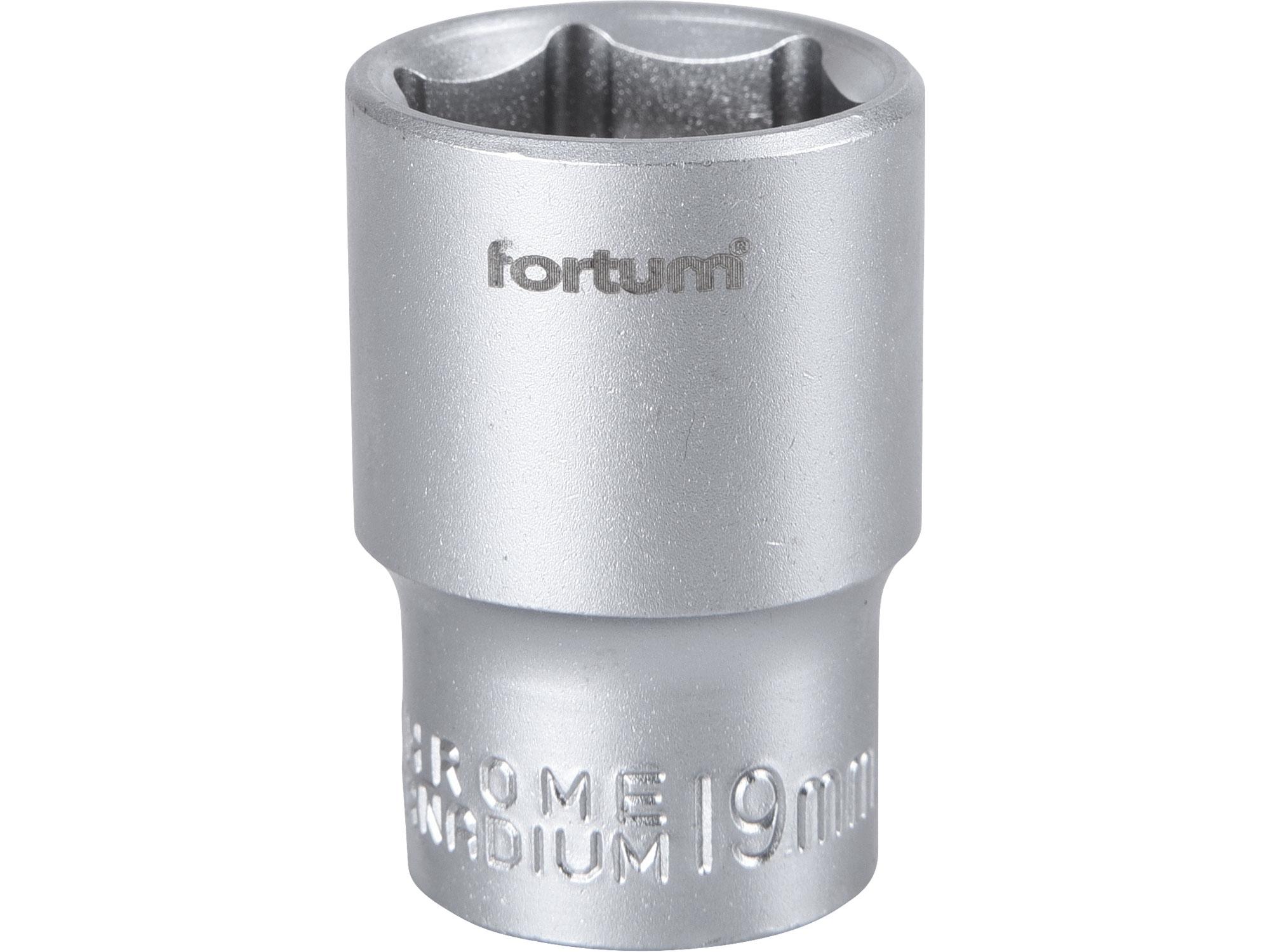 """hlavice nástrčná, 1/2"""", 19mm, L 38mm, FORTUM 4700419"""