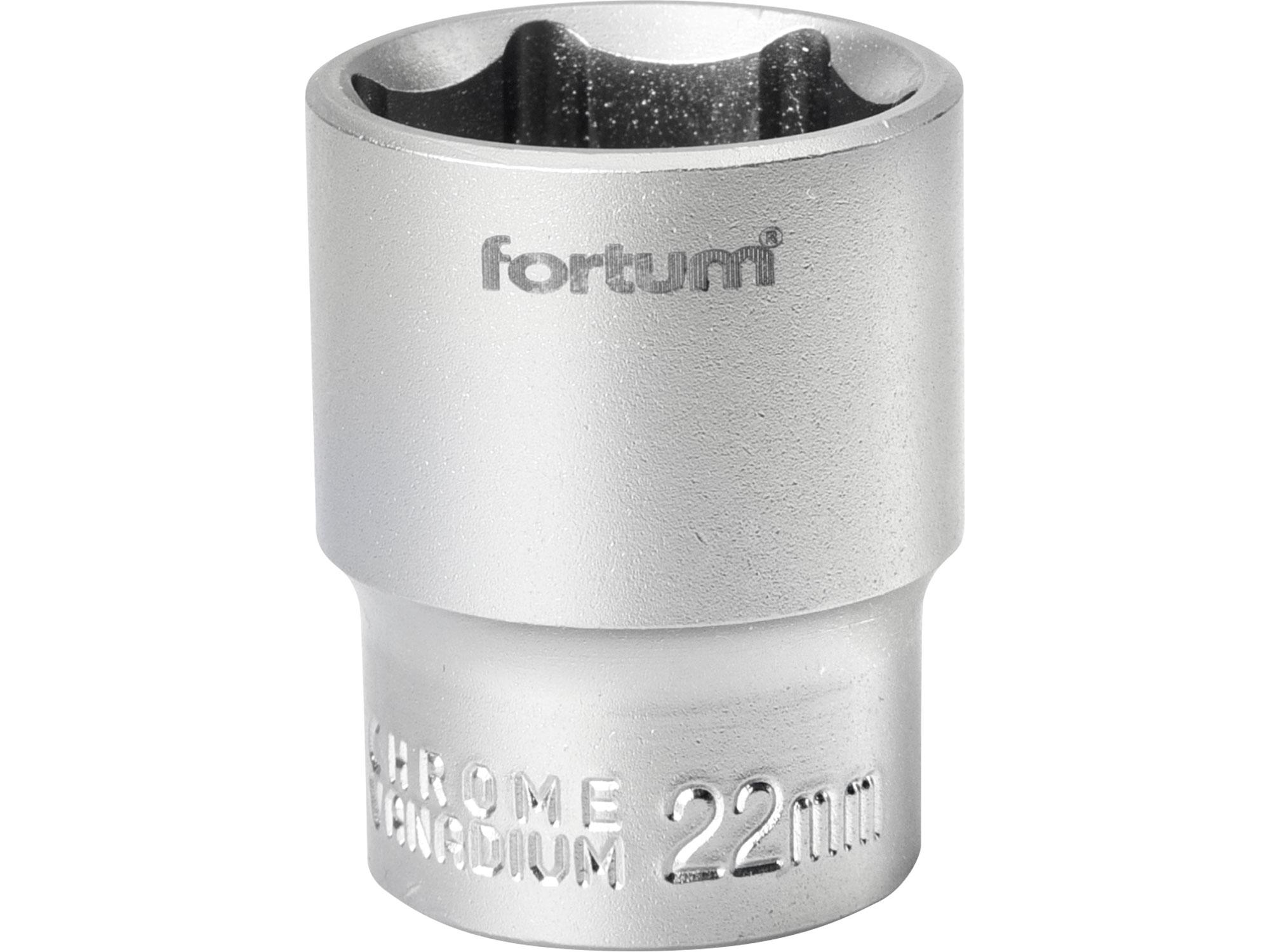 """hlavice nástrčná, 1/2"""", 22mm, L 38mm, FORTUM 4700422"""
