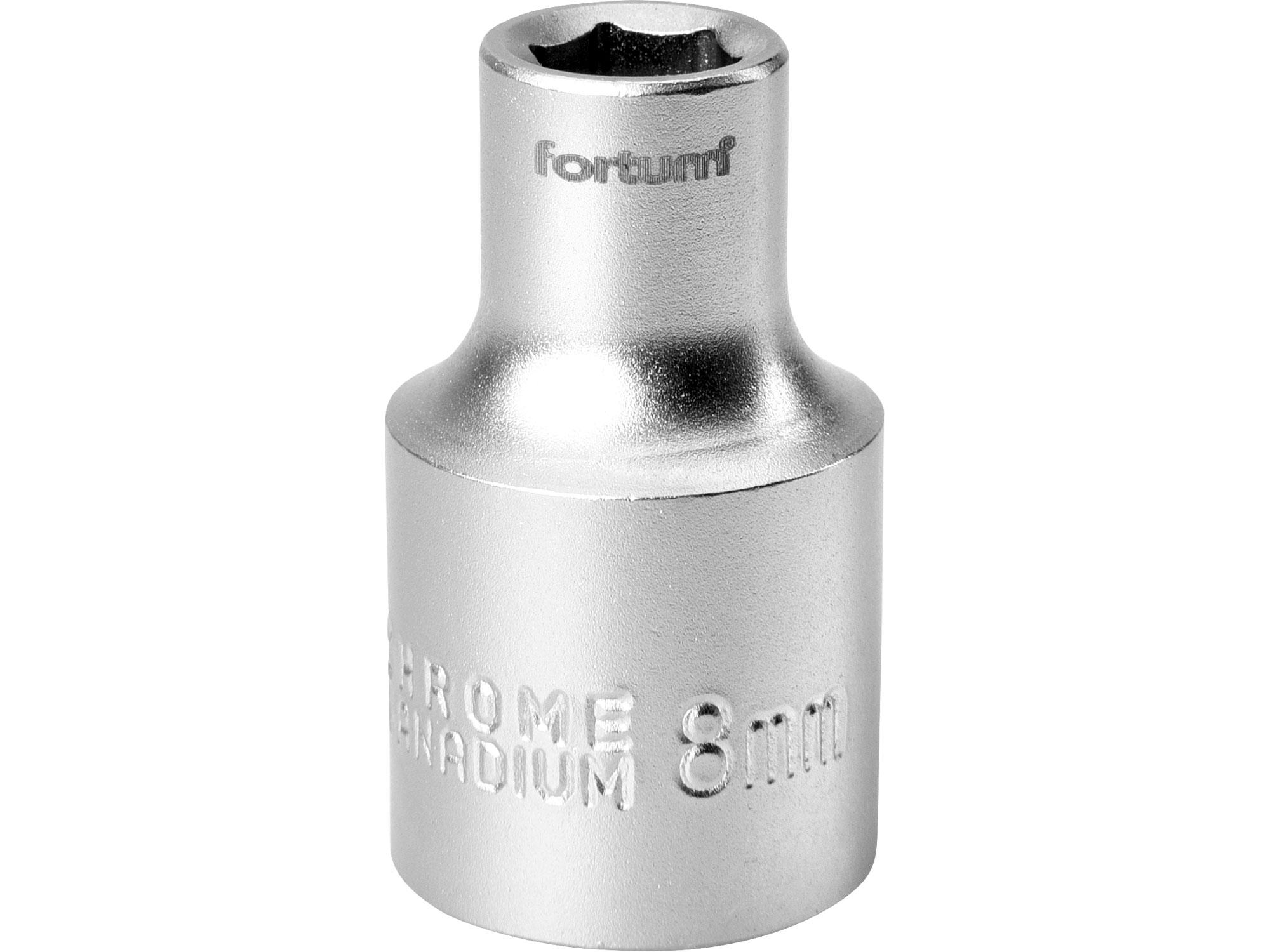 """hlavice nástrčná, 1/2"""", 8mm, L 38mm, FORTUM 4700408"""