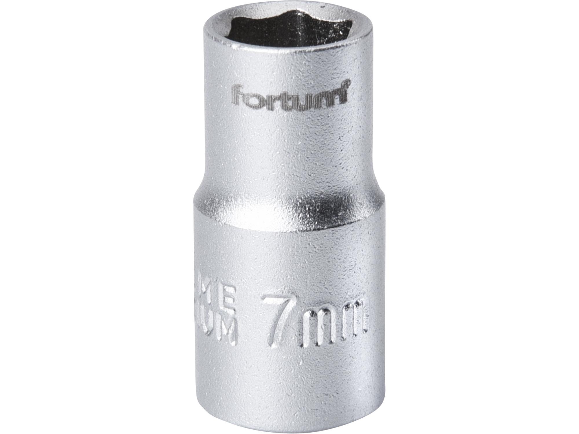 """hlavice nástrčná, 1/4"""", 7mm, L 25mm, FORTUM 4701407"""