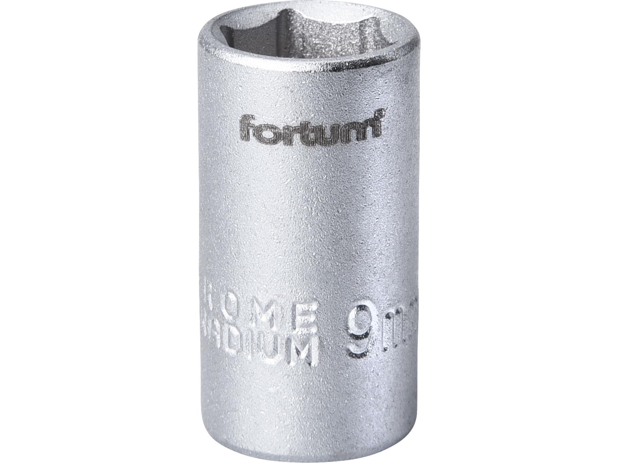 """hlavice nástrčná, 1/4"""", 9mm, L 25mm, FORTUM 4701409"""