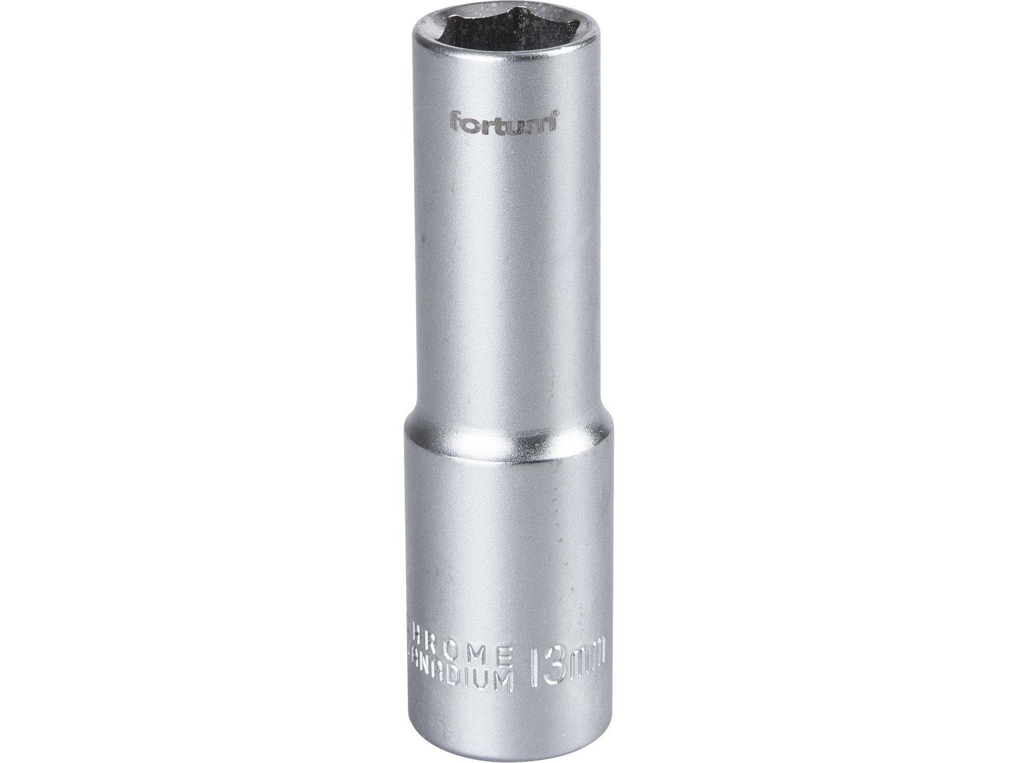 """hlavice nástrčná prodloužená, 1/2"""", 13mm, L 77mm, FORTUM 4700513"""