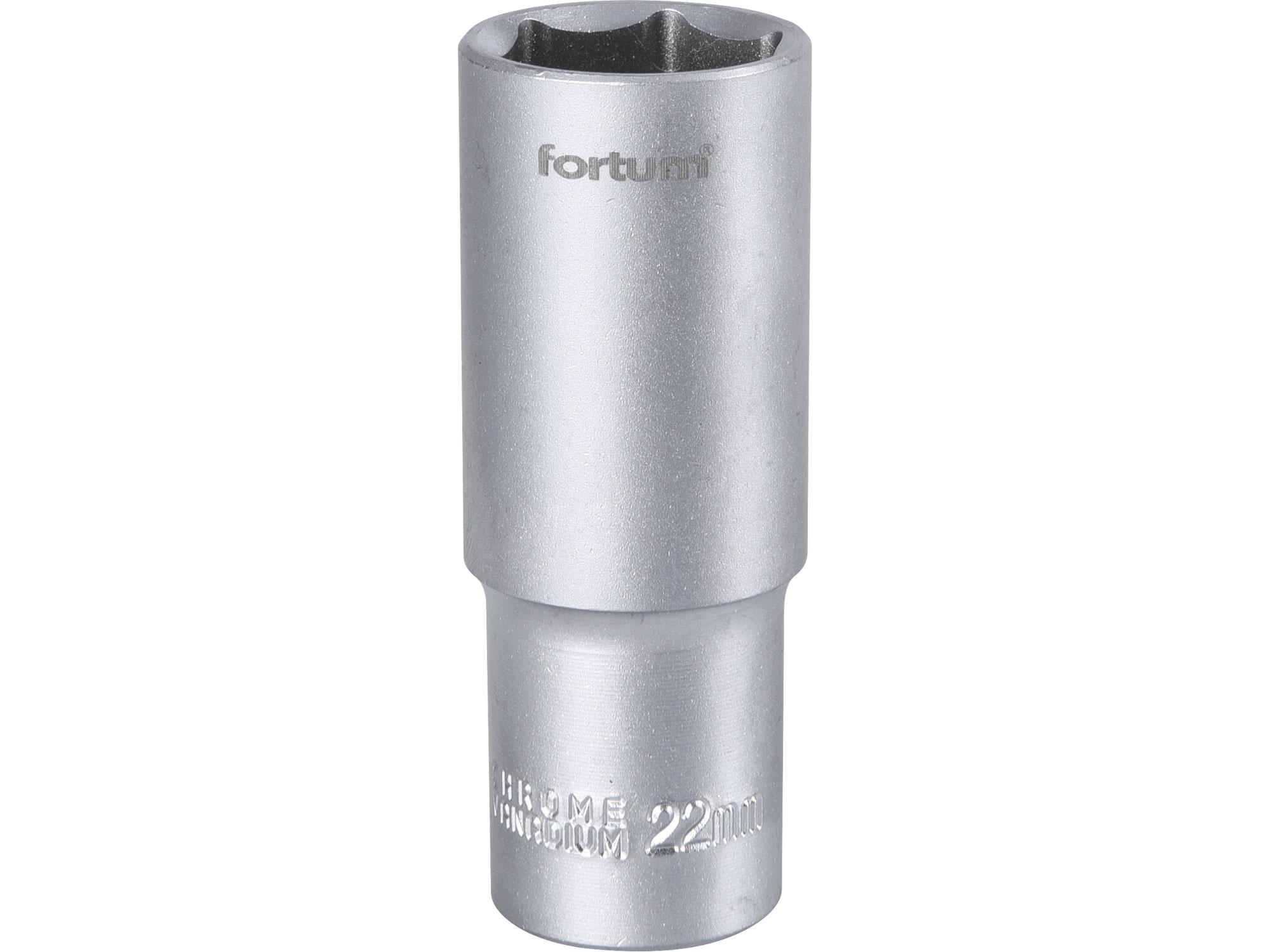 """hlavice nástrčná prodloužená, 1/2"""", 22mm, L 77mm, FORTUM 4700522"""