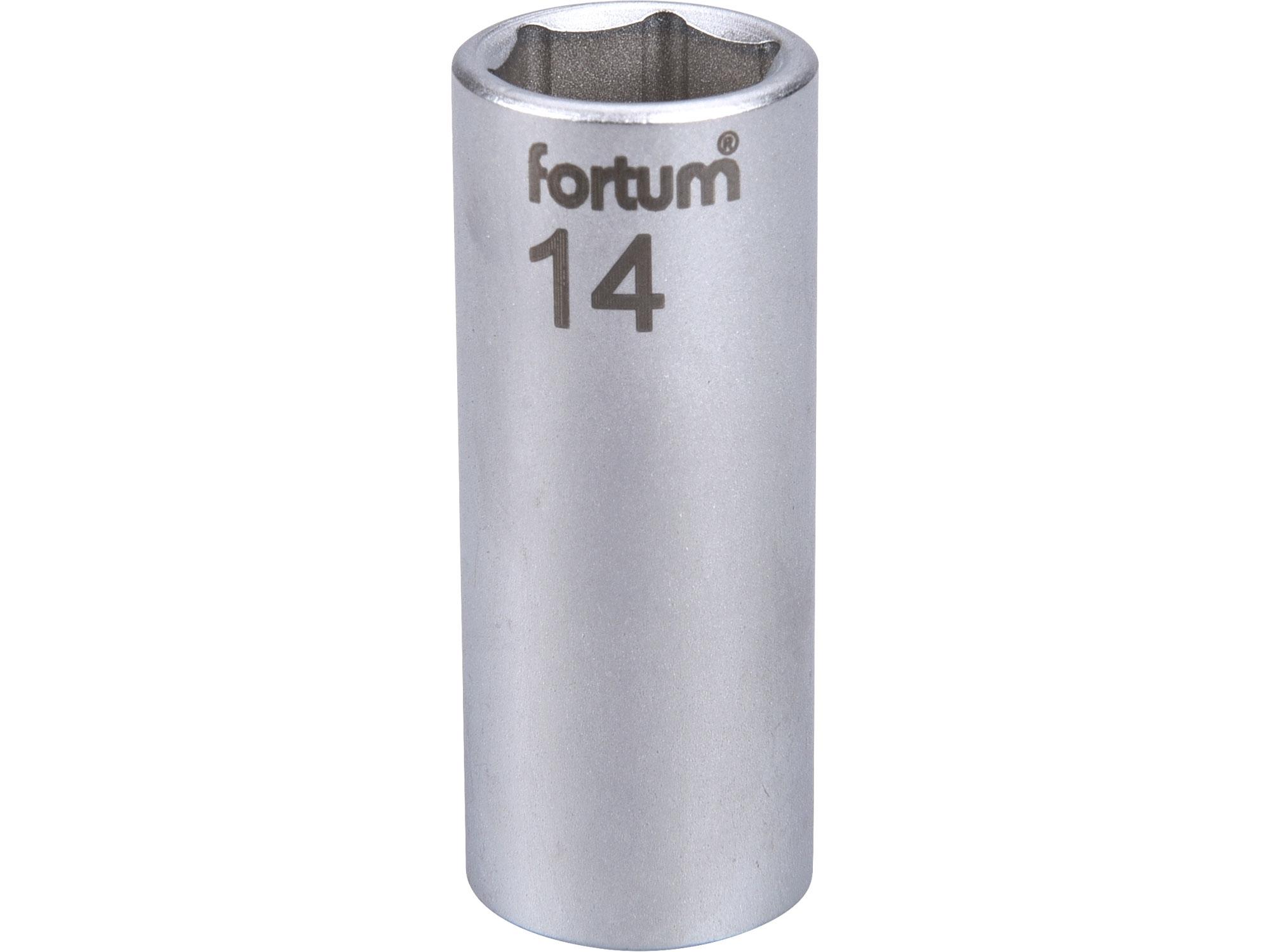"""hlavice nástrčná prodloužena 1/4"""", 14mm, L 50mm"""