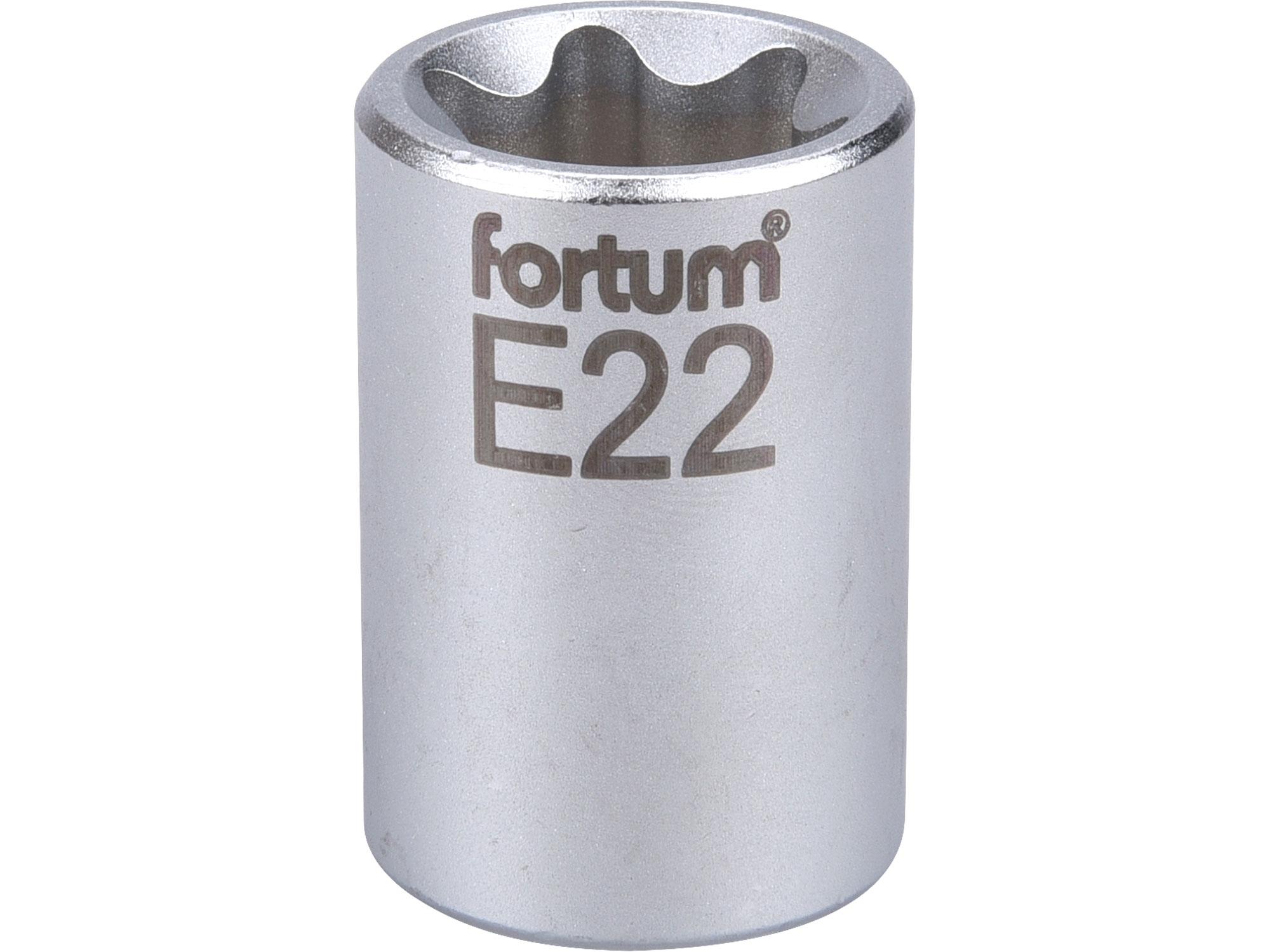 """hlavice nástrčná vnitřní TORX, 1/2"""", E 22, L 38mm, FORTUM 4700704"""