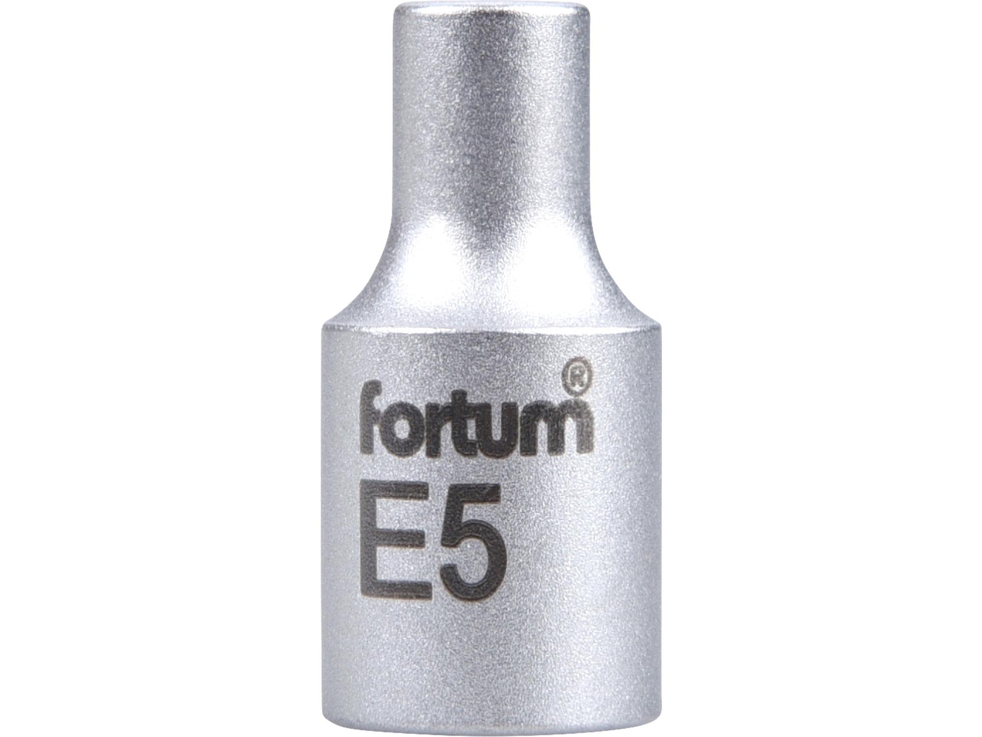 """hlavice nástrčná vnitřní TORX, 1/4"""", E 5, L 25mm, FORTUM 4701705"""