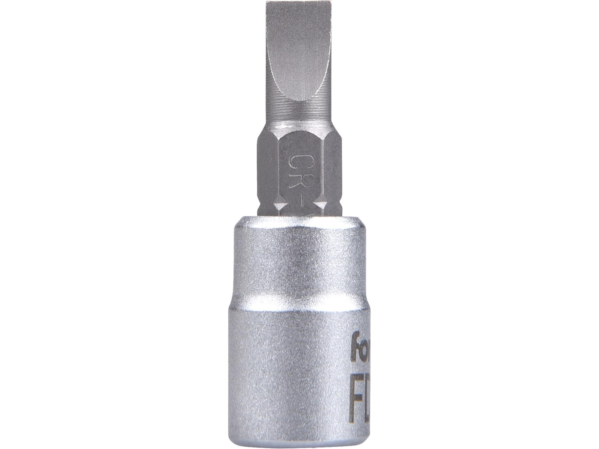 """hlavice zástrčná 1/4"""" hrot plochý, 5,5mm, L 37mm"""