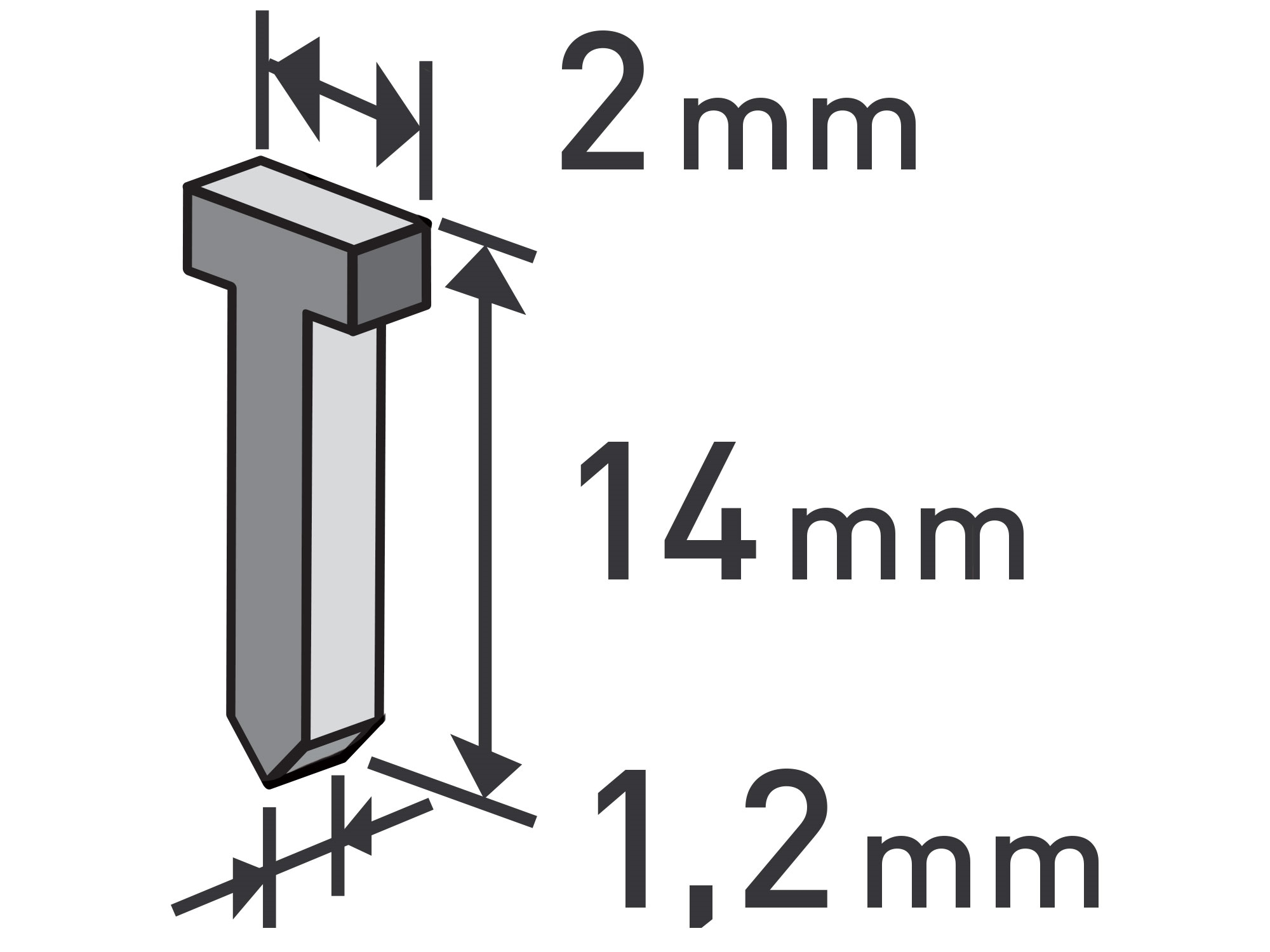 hřebíky, balení 1000ks, 14mm, 2,0x0,52x1,2mm, EXTOL PREMIUM 8852405