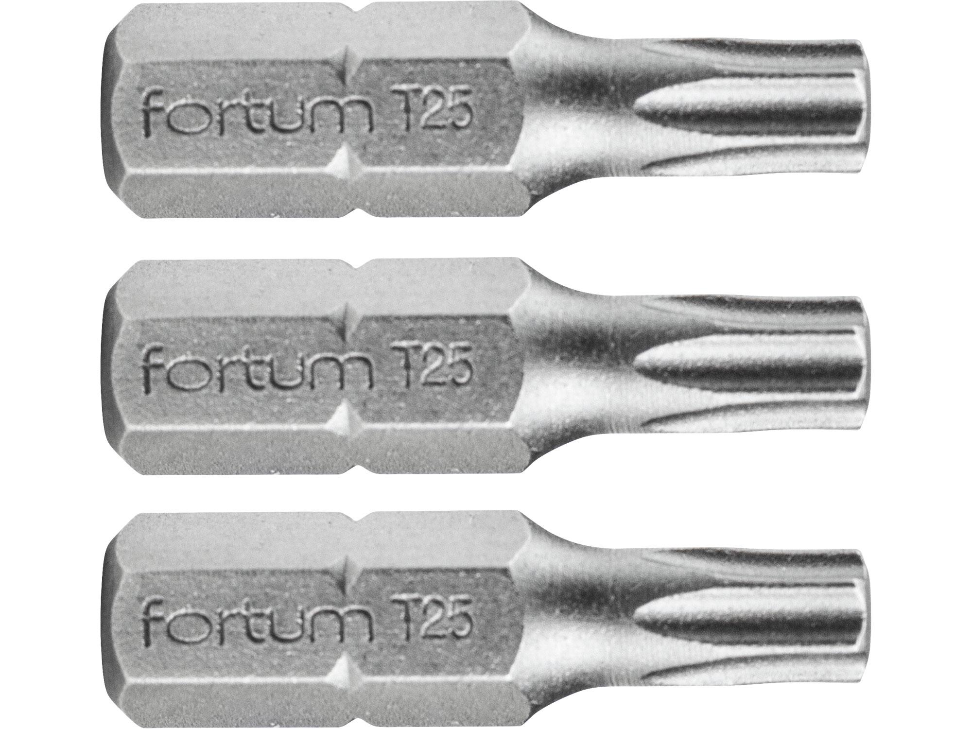 hrot TORX, sada 3ks , T 25x25mm, S2