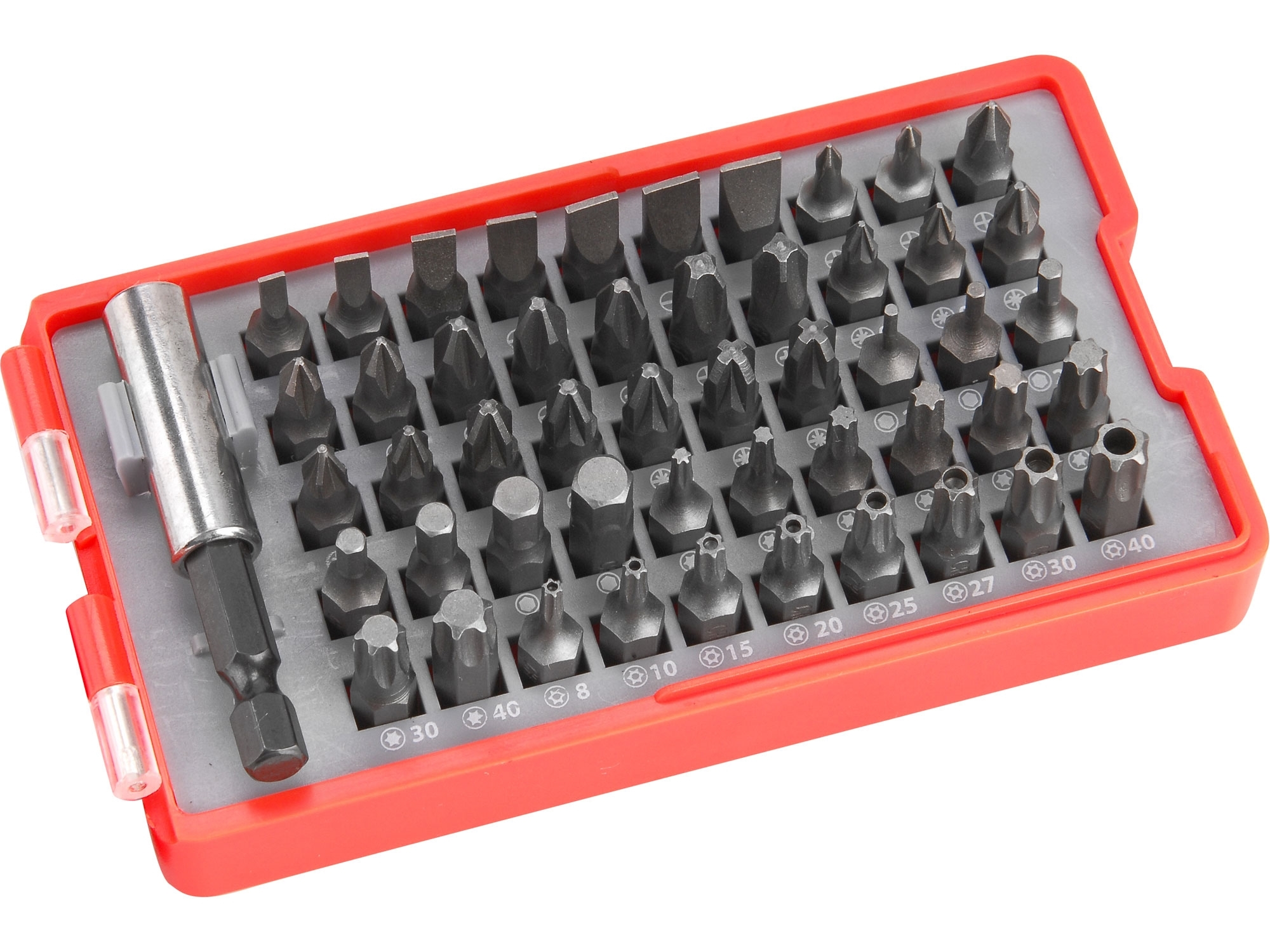 hroty,sada 51ks, 4x(-),10x(PH),10x(PZ),7x(HEX),8x(T),8x(TTa), EXTOL PREMIUM 8819642