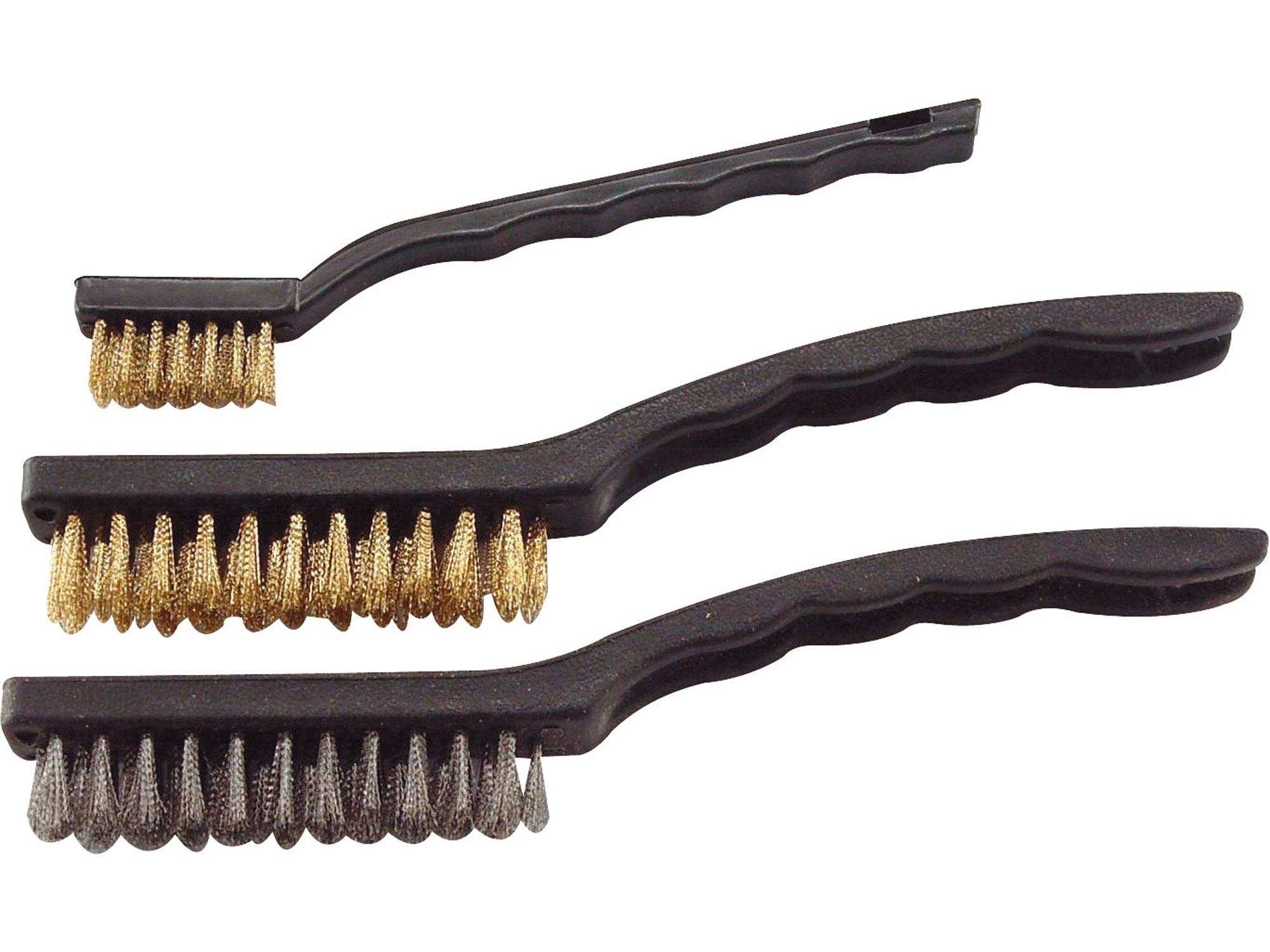 kartáče ocelové, sada 3ks, 180mm, 2x225mm, Fe/MOSAZ, Fe, EXTOL CRAFT 1848